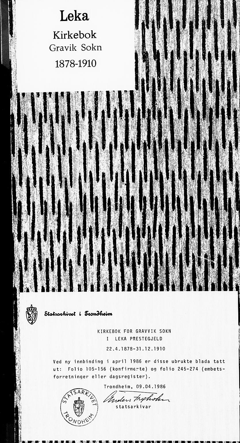 SAT, Ministerialprotokoller, klokkerbøker og fødselsregistre - Nord-Trøndelag, 789/L0705: Ministerialbok nr. 789A01, 1878-1910