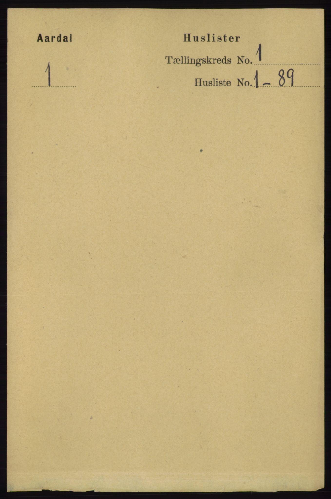 RA, Folketelling 1891 for 1131 Årdal herred, 1891, s. 13