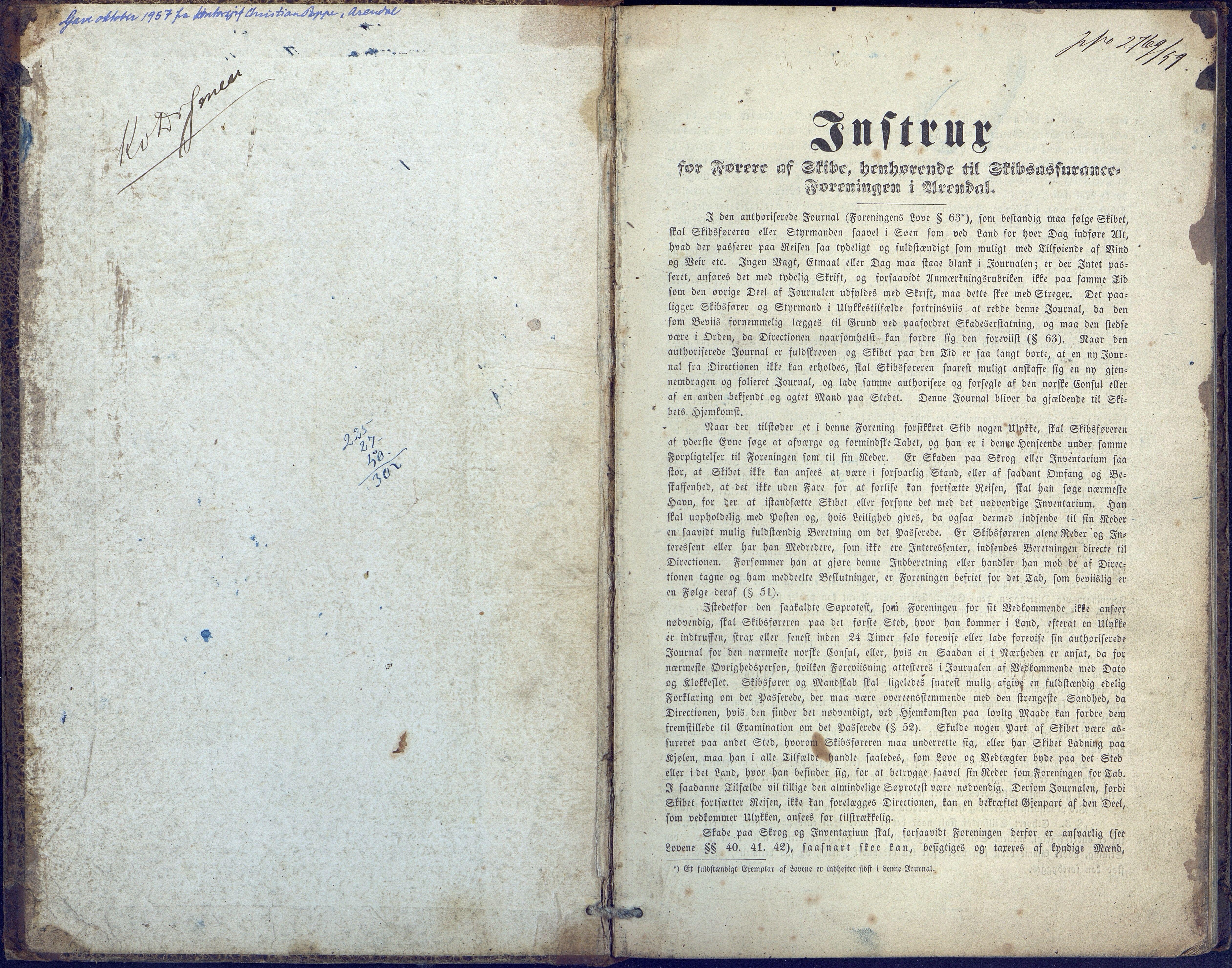 AAKS, Fartøysarkivet, F/L0015: Alert (brigg), 1856-1859