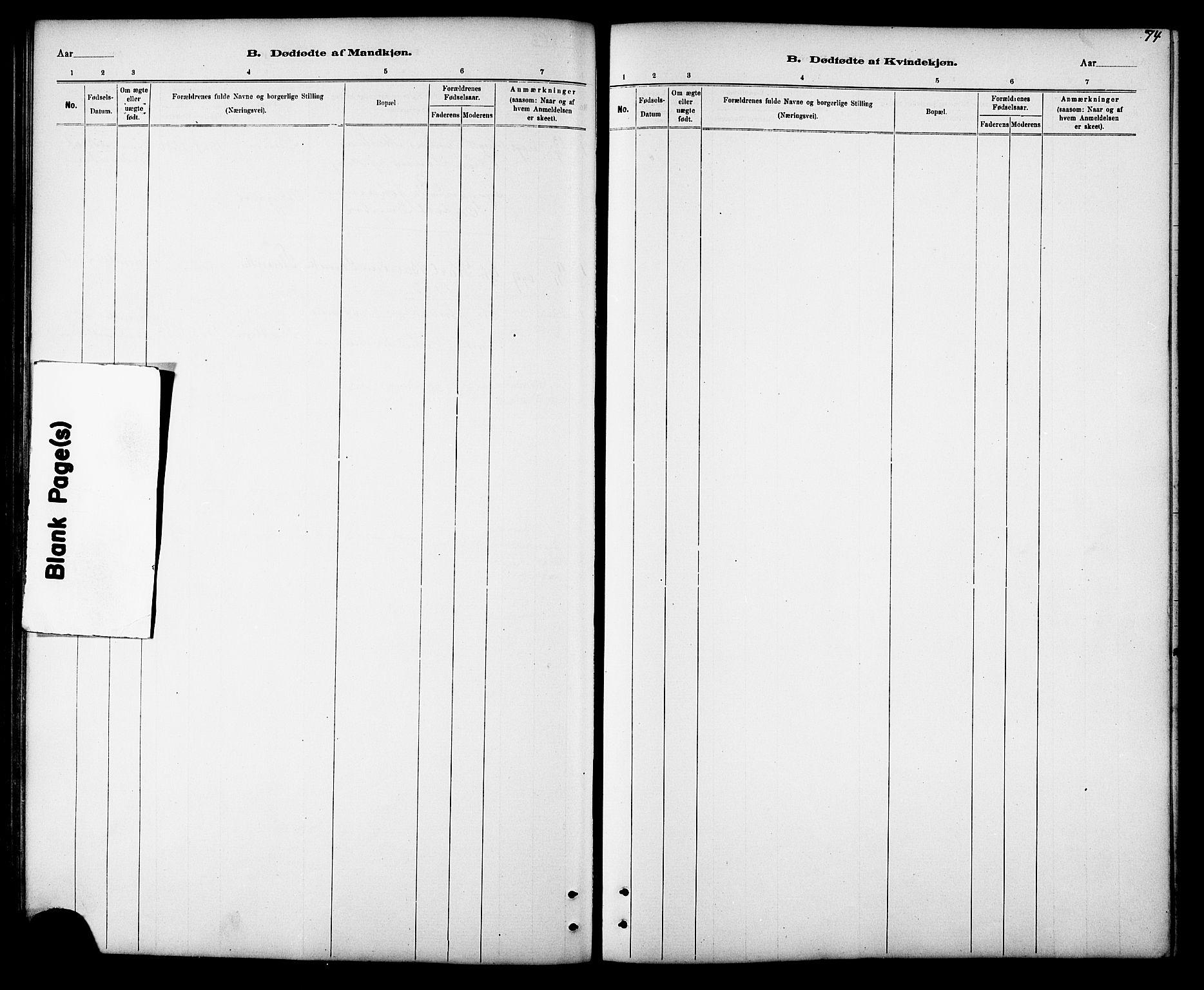 SAT, Ministerialprotokoller, klokkerbøker og fødselsregistre - Sør-Trøndelag, 694/L1132: Klokkerbok nr. 694C04, 1887-1914, s. 74