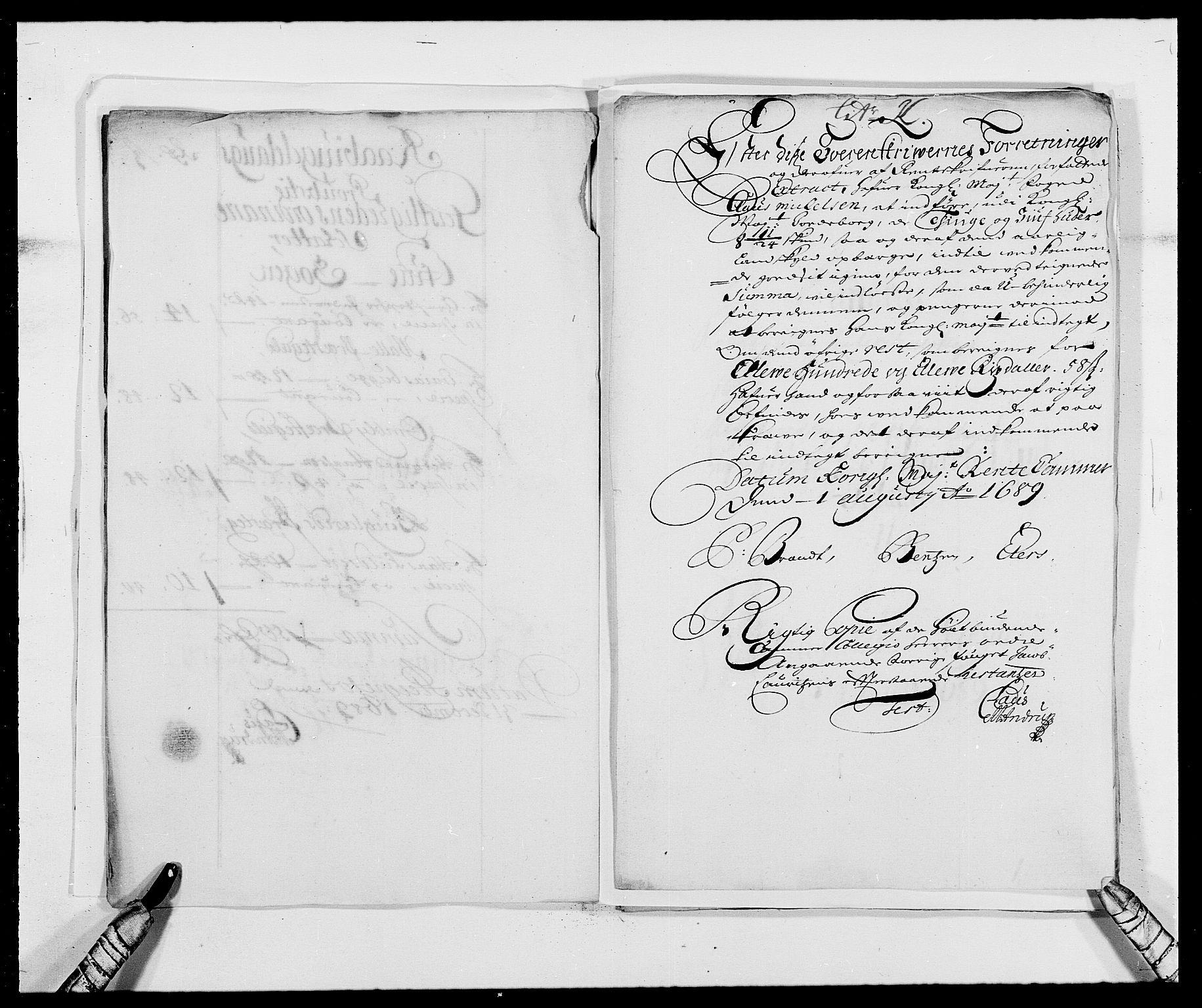 RA, Rentekammeret inntil 1814, Reviderte regnskaper, Fogderegnskap, R40/L2442: Fogderegnskap Råbyggelag, 1689-1690, s. 94