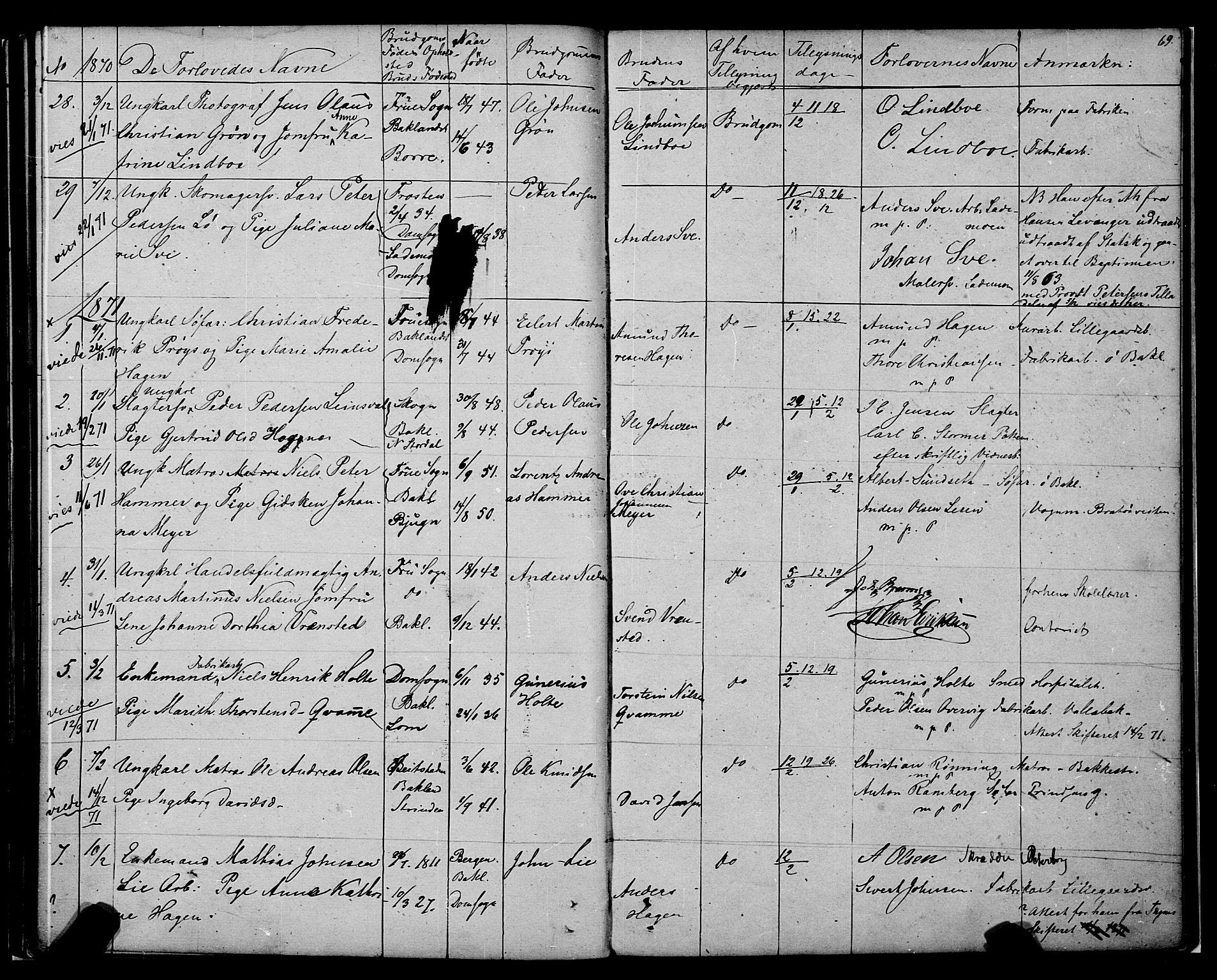 SAT, Ministerialprotokoller, klokkerbøker og fødselsregistre - Sør-Trøndelag, 604/L0187: Ministerialbok nr. 604A08, 1847-1878, s. 69