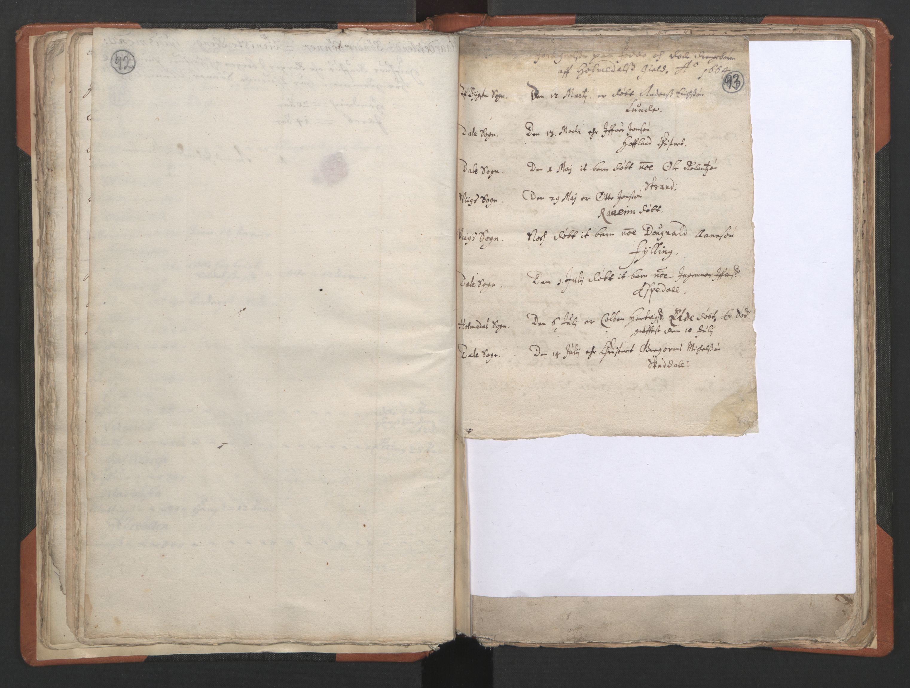 RA, Sogneprestenes manntall 1664-1666, nr. 24: Sunnfjord prosti, 1664-1666, s. 92-93