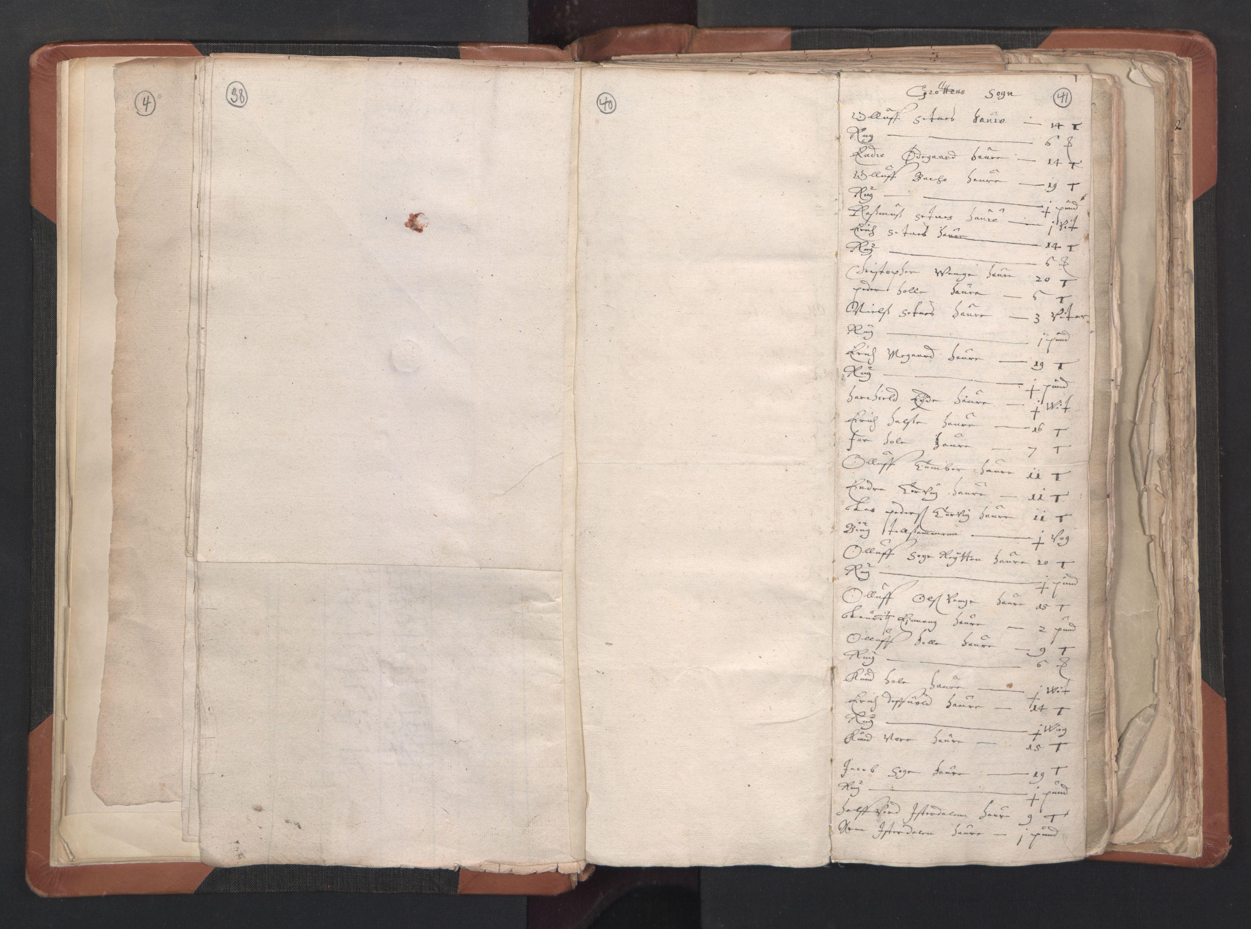 RA, Sogneprestenes manntall 1664-1666, nr. 27: Romsdal prosti, 1664-1666, s. 40-41