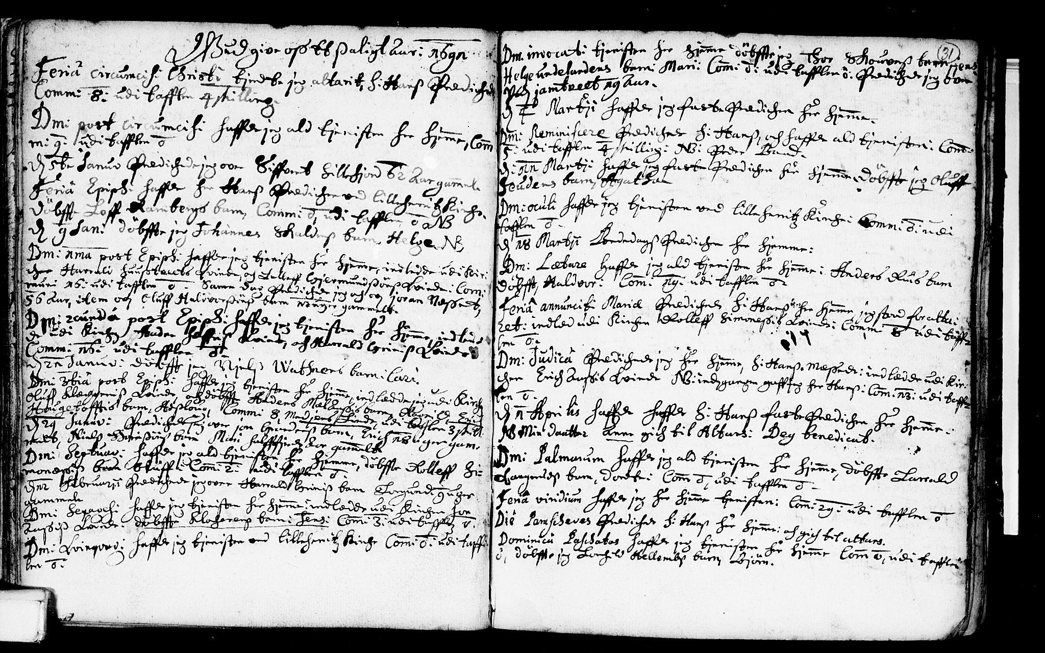 SAKO, Heddal kirkebøker, F/Fa/L0001: Ministerialbok nr. I 1, 1648-1699, s. 31