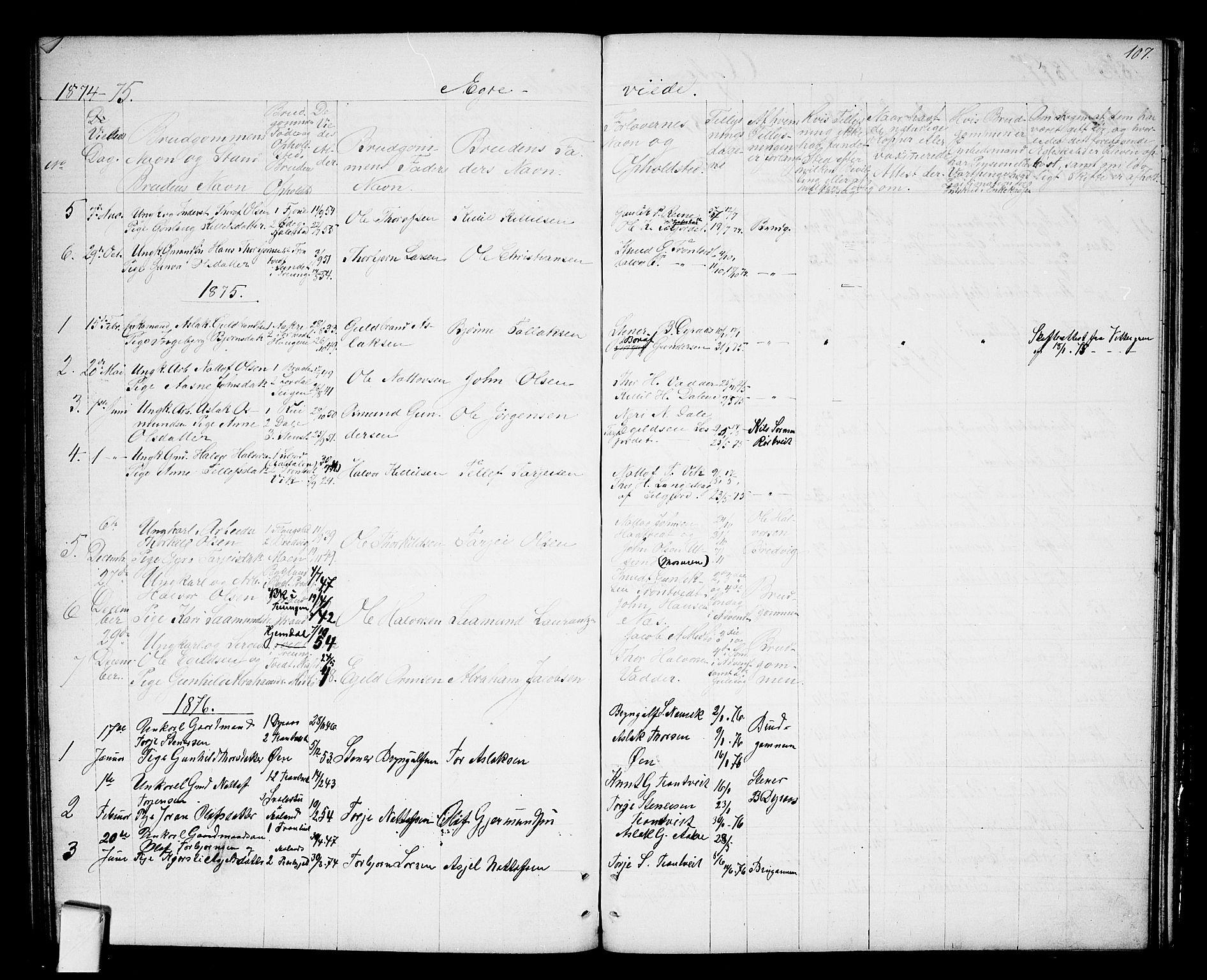 SAKO, Nissedal kirkebøker, G/Ga/L0002: Klokkerbok nr. I 2, 1861-1887, s. 107
