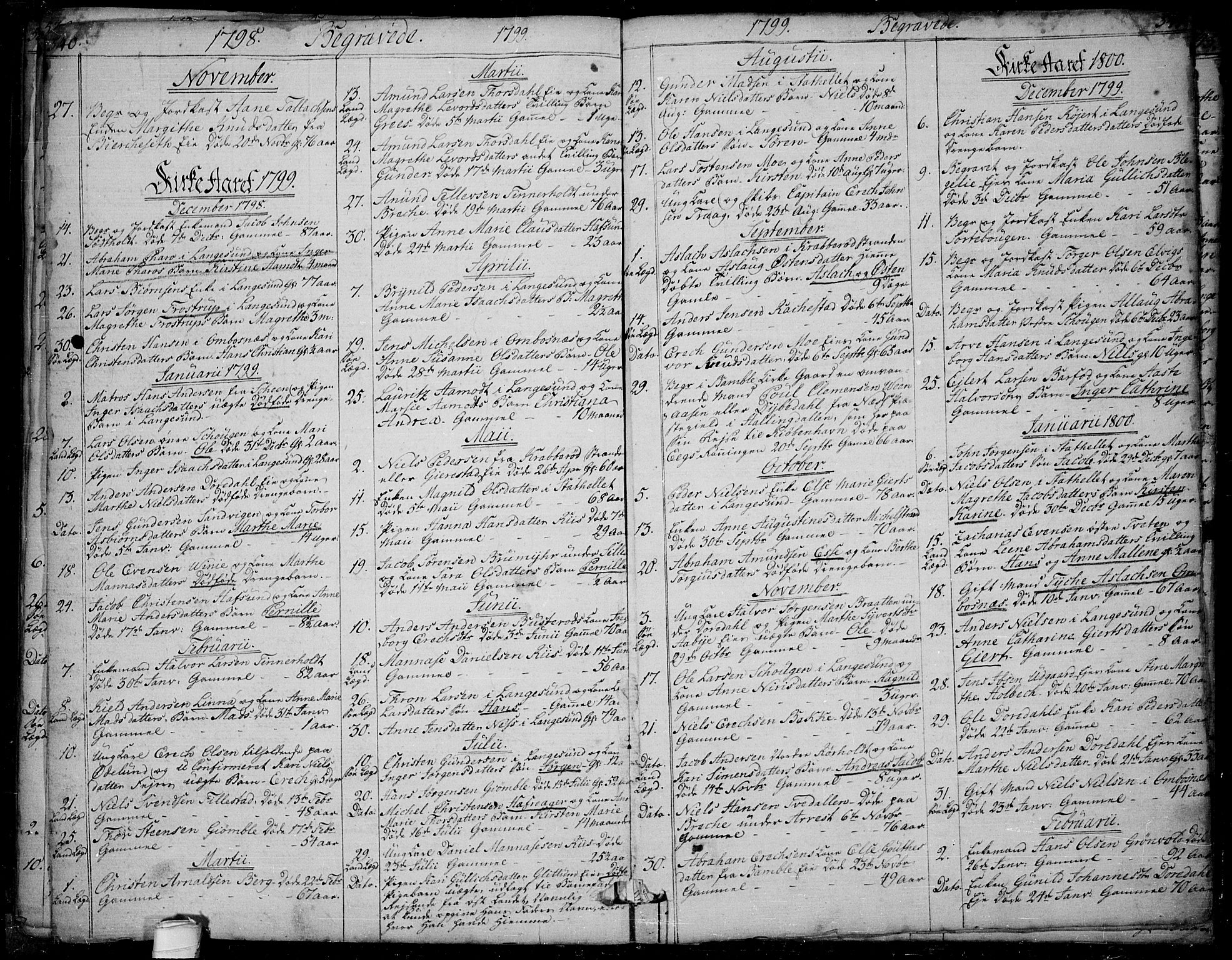 SAKO, Bamble kirkebøker, F/Fa/L0002: Ministerialbok nr. I 2, 1775-1814, s. 540-541