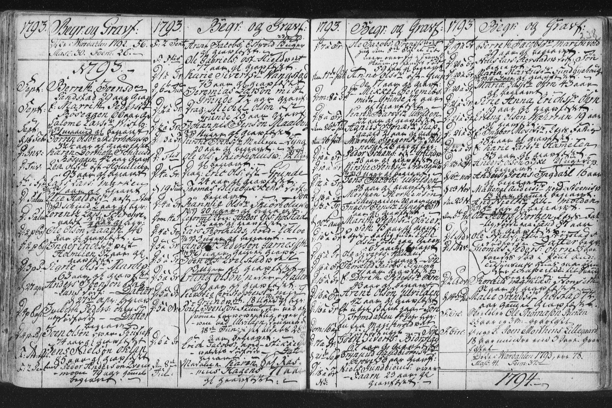 SAT, Ministerialprotokoller, klokkerbøker og fødselsregistre - Nord-Trøndelag, 723/L0232: Ministerialbok nr. 723A03, 1781-1804, s. 238