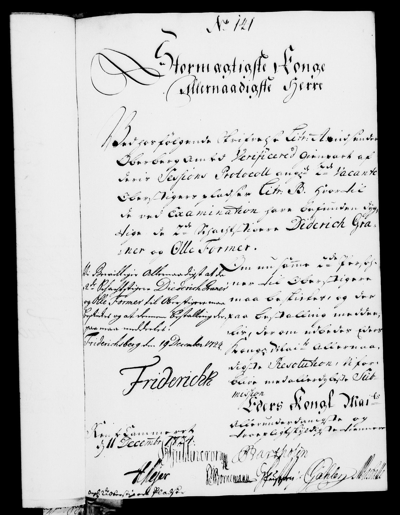 RA, Rentekammeret, Kammerkanselliet, G/Gf/Gfa/L0007: Norsk relasjons- og resolusjonsprotokoll (merket RK 52.7), 1724, s. 920