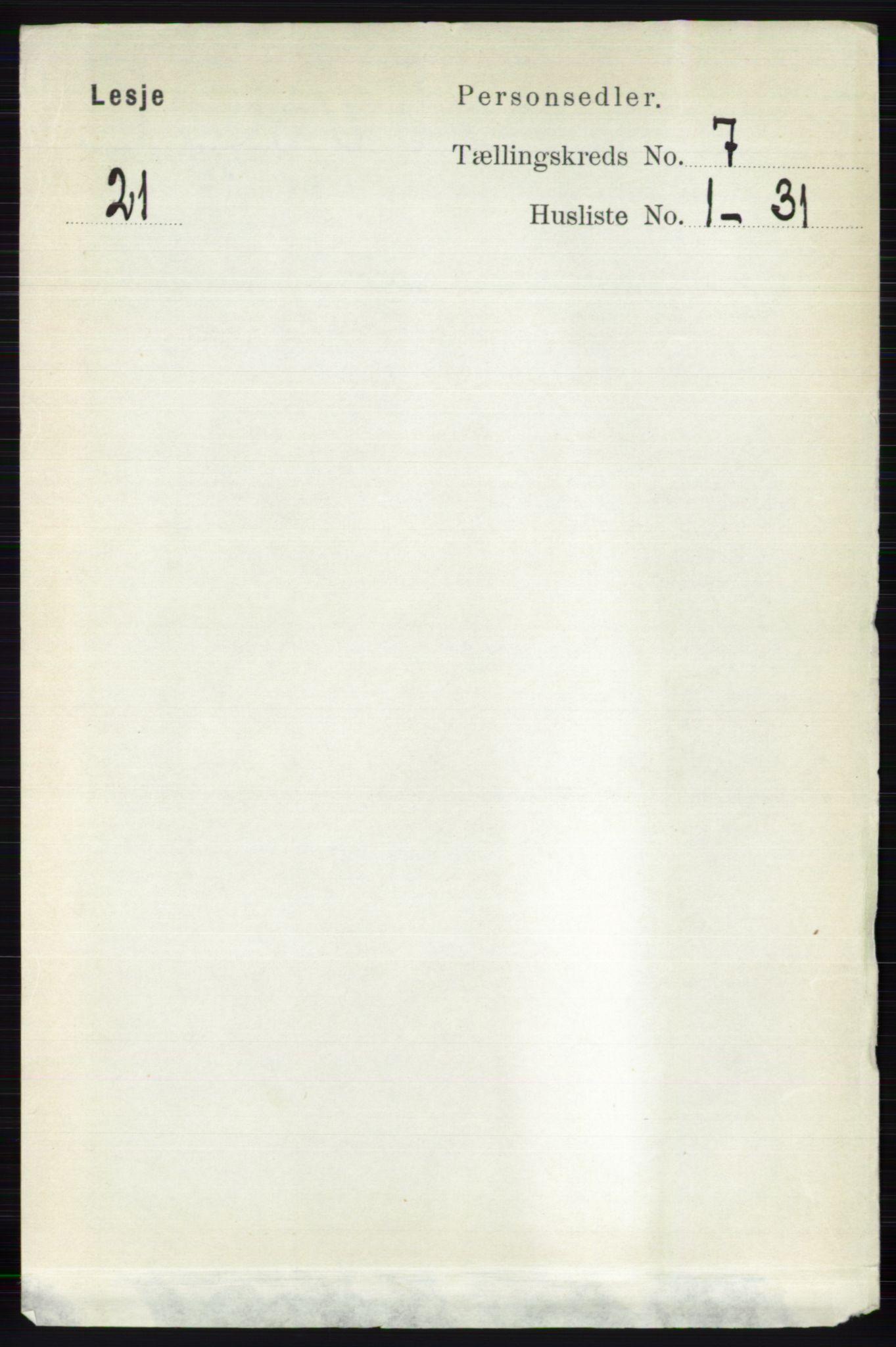 RA, Folketelling 1891 for 0512 Lesja herred, 1891, s. 2491