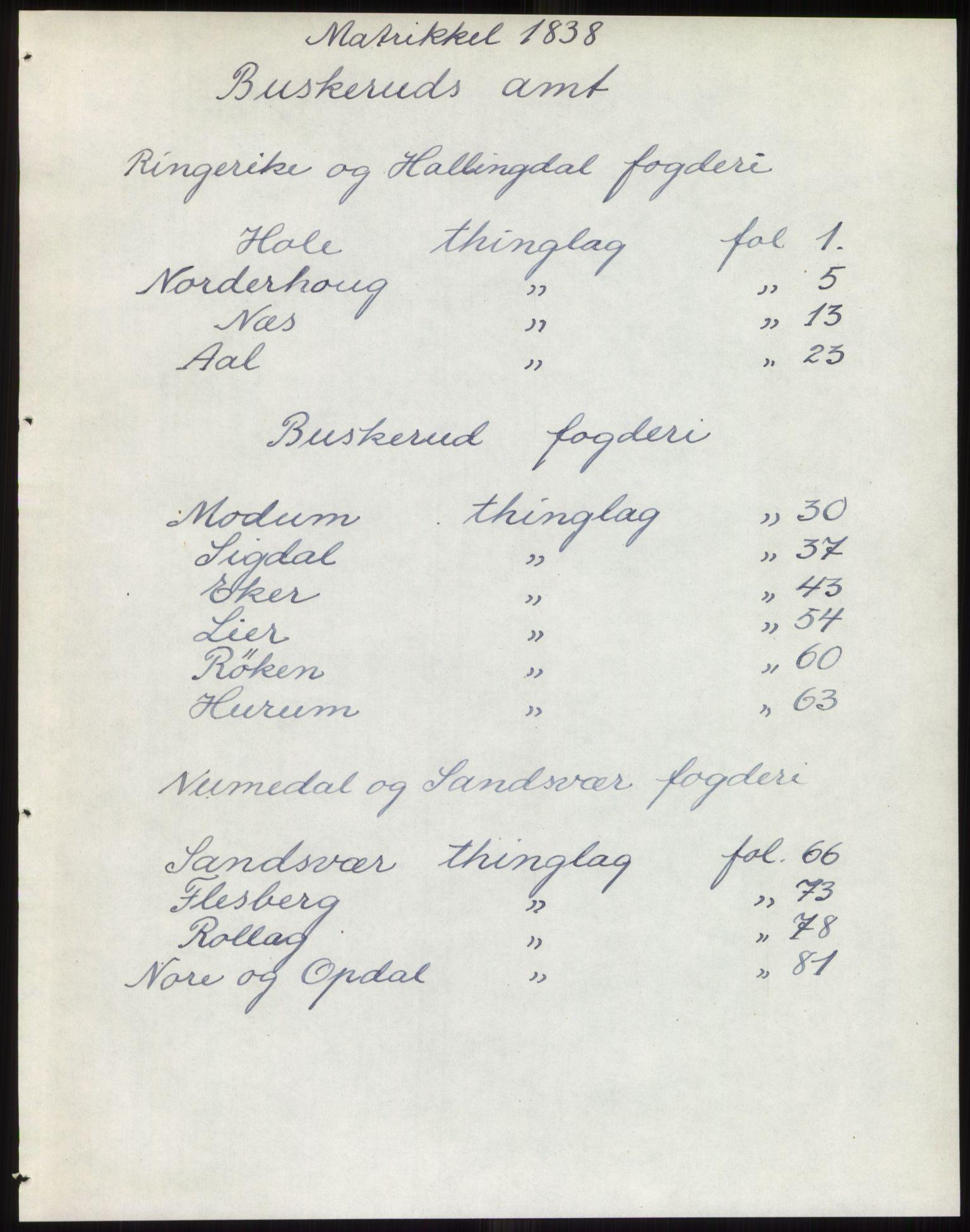 PUBL, Andre publikasjoner, -/Bind 5: Buskerud amt, 1838, s. 1