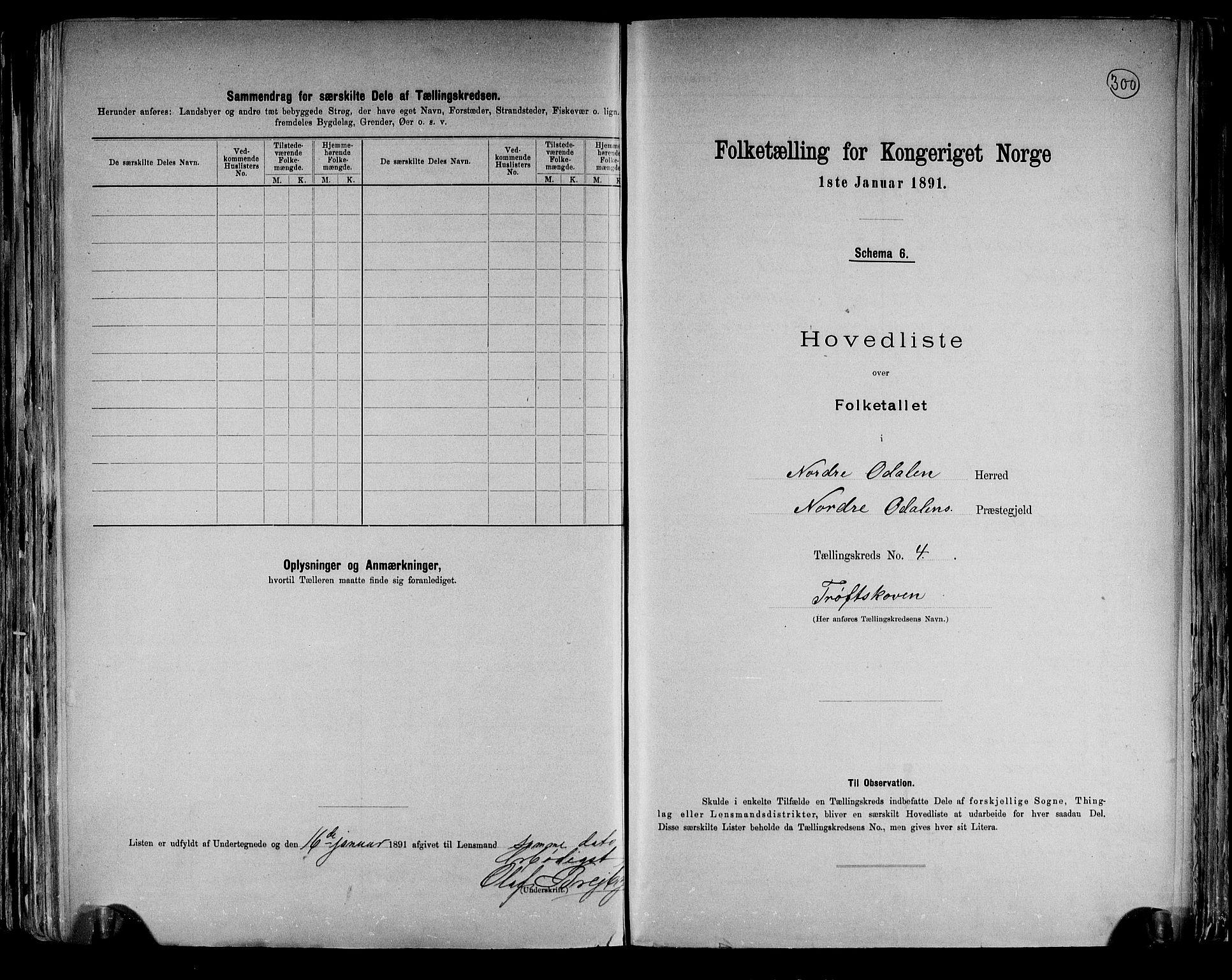 RA, Folketelling 1891 for 0418 Nord-Odal herred, 1891, s. 12