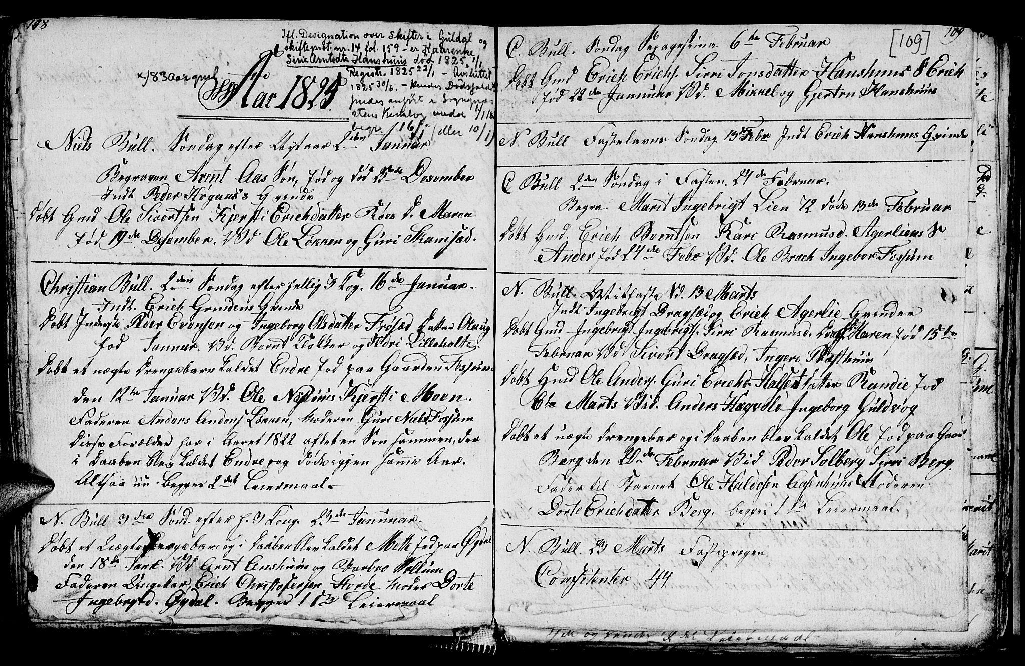 SAT, Ministerialprotokoller, klokkerbøker og fødselsregistre - Sør-Trøndelag, 689/L1042: Klokkerbok nr. 689C01, 1812-1841, s. 108-109