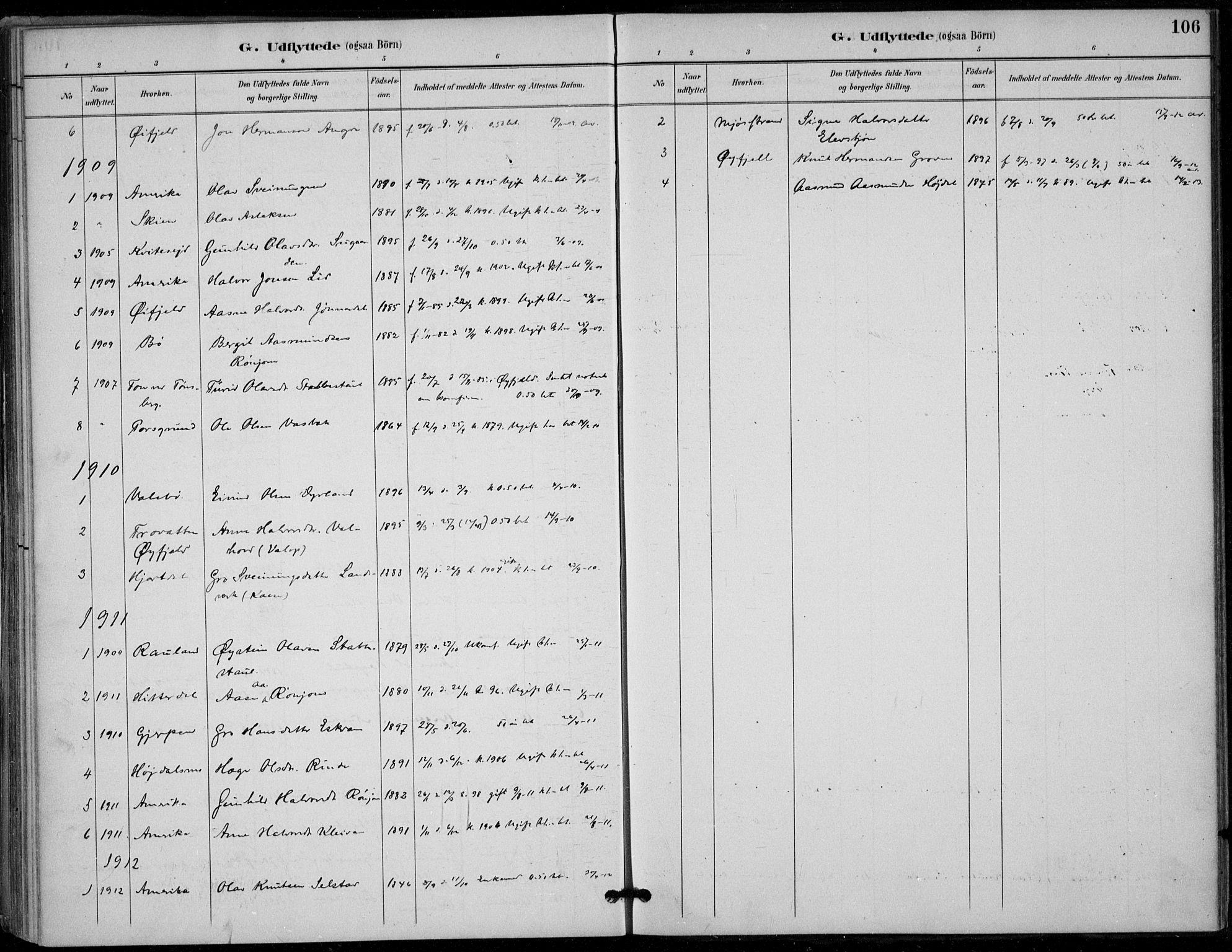 SAKO, Seljord kirkebøker, F/Fc/L0002: Ministerialbok nr. III 2, 1887-1920, s. 106