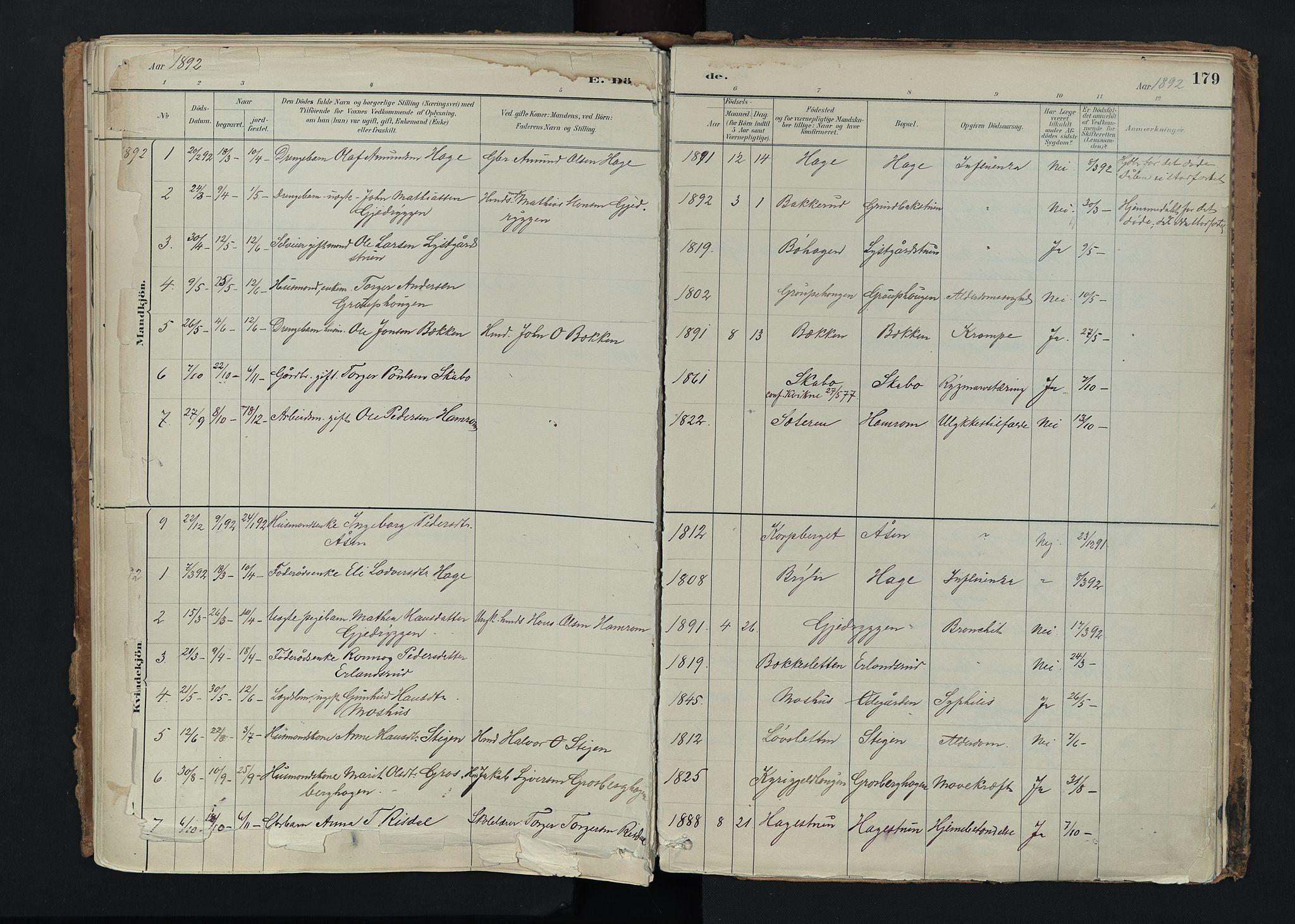 SAH, Nord-Fron prestekontor, Ministerialbok nr. 5, 1884-1914, s. 179