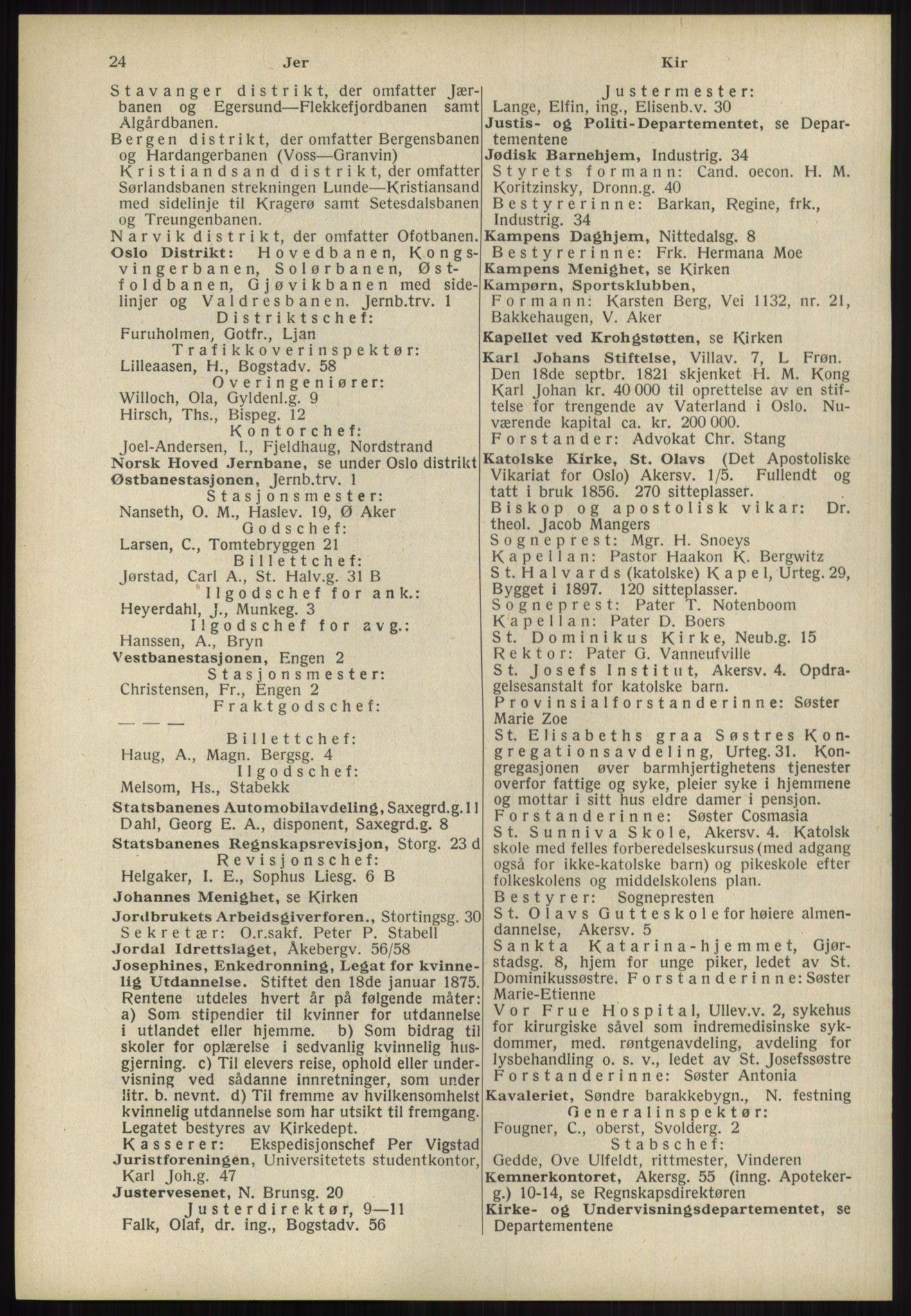 RA, Oslo adressebok (publikasjon)*, 1939, s. 24