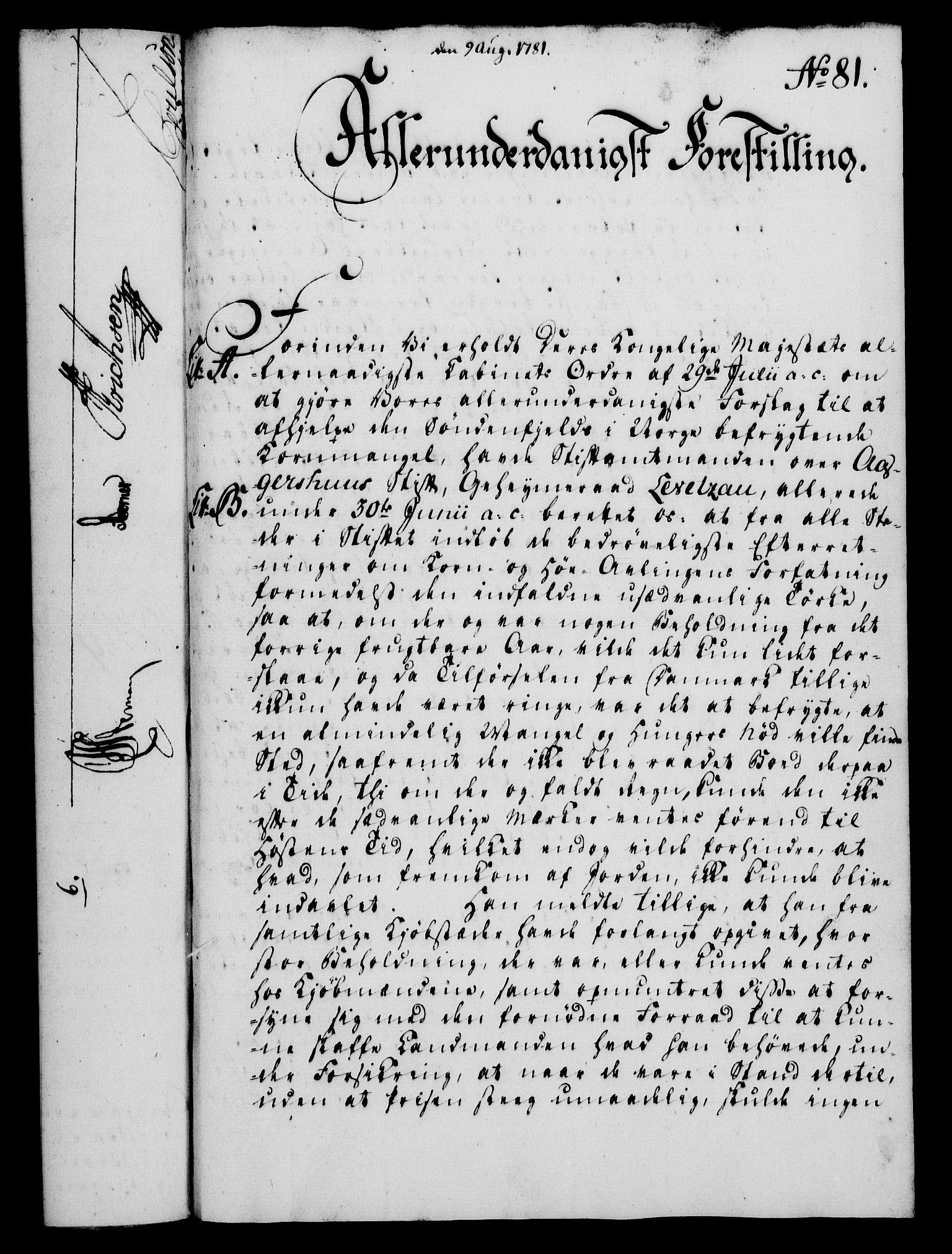 RA, Rentekammeret, Kammerkanselliet, G/Gf/Gfa/L0063: Norsk relasjons- og resolusjonsprotokoll (merket RK 52.63), 1781, s. 938