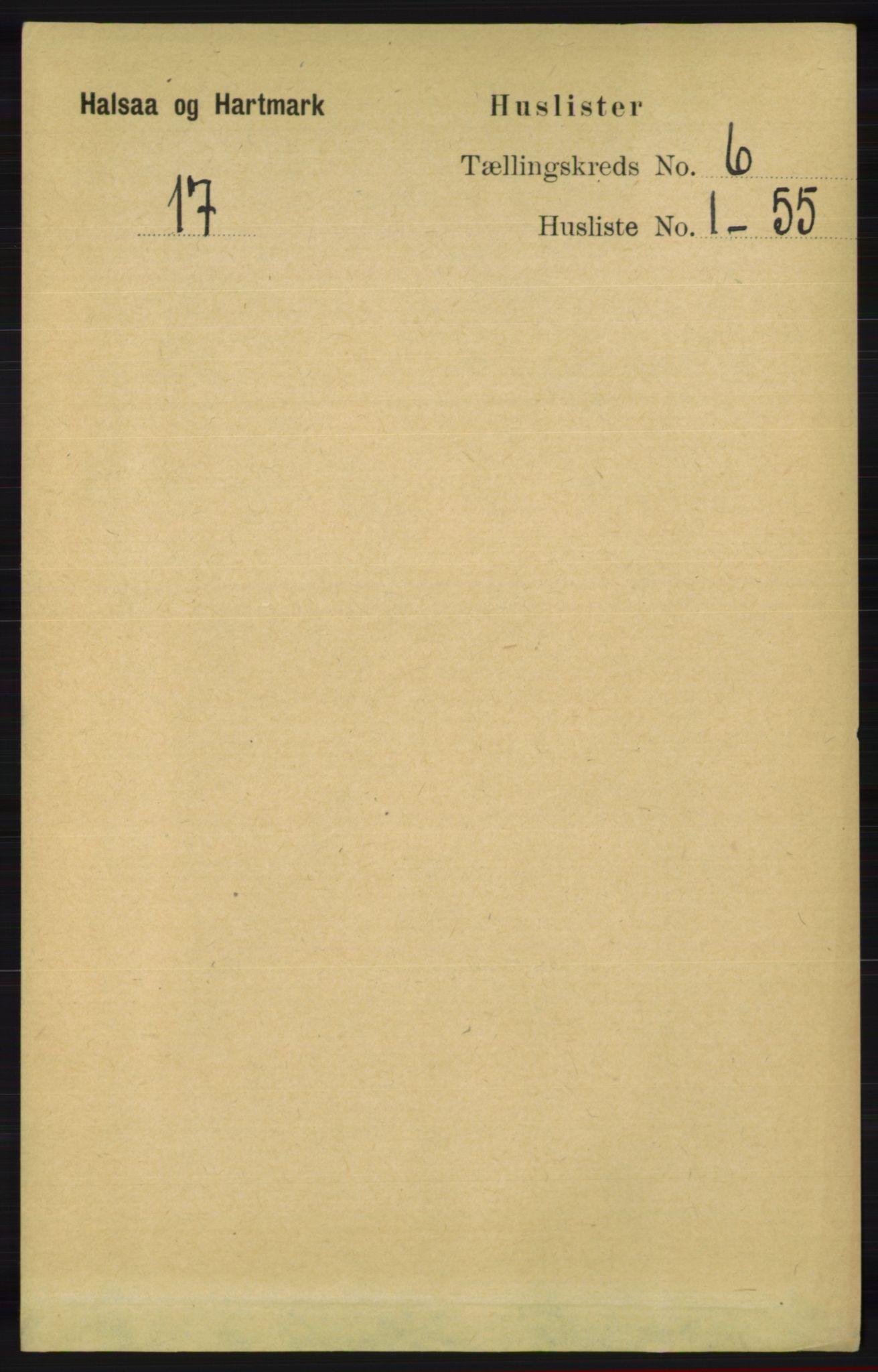 RA, Folketelling 1891 for 1019 Halse og Harkmark herred, 1891, s. 2310