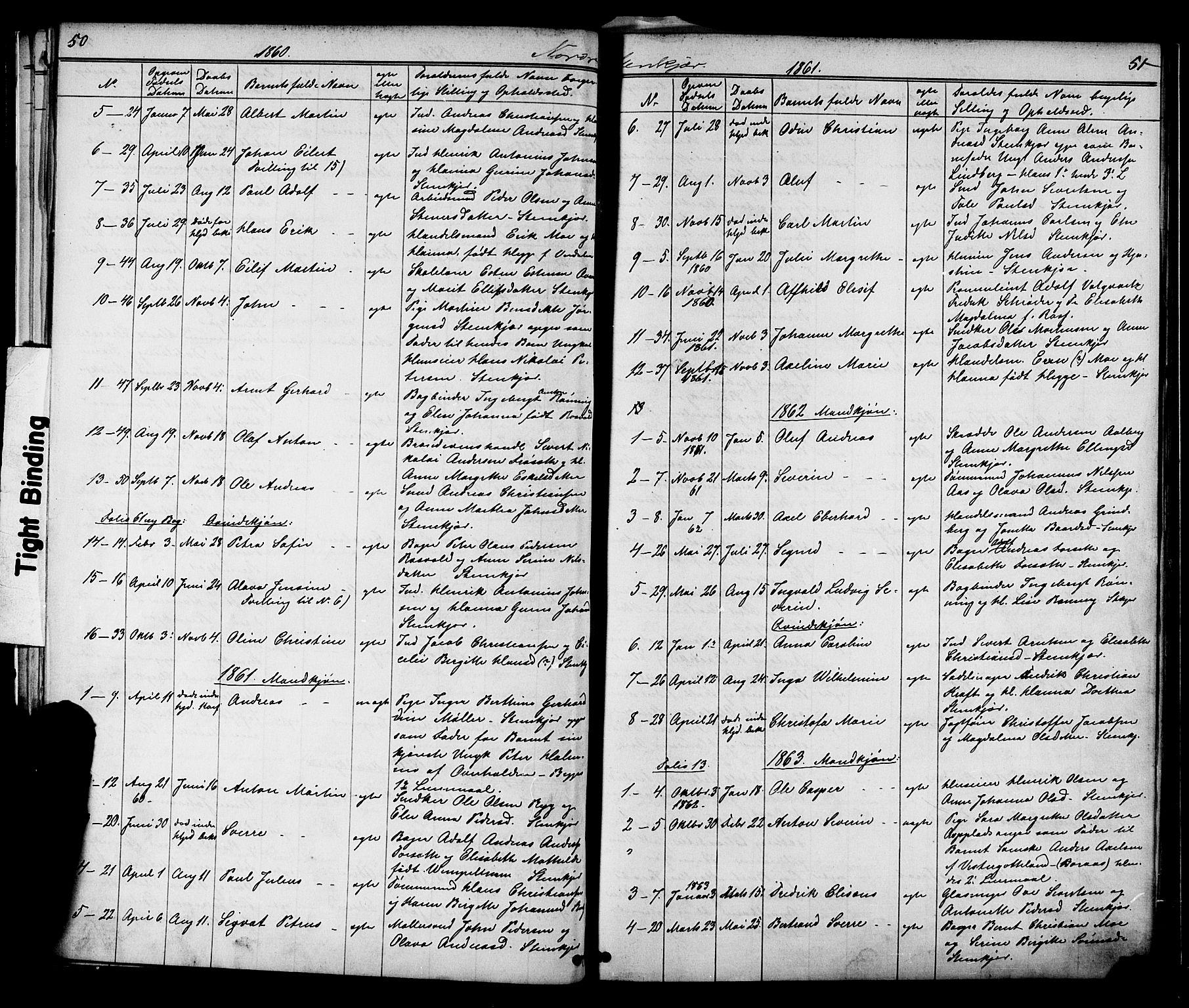 SAT, Ministerialprotokoller, klokkerbøker og fødselsregistre - Nord-Trøndelag, 739/L0367: Ministerialbok nr. 739A01 /2, 1838-1868, s. 50-51