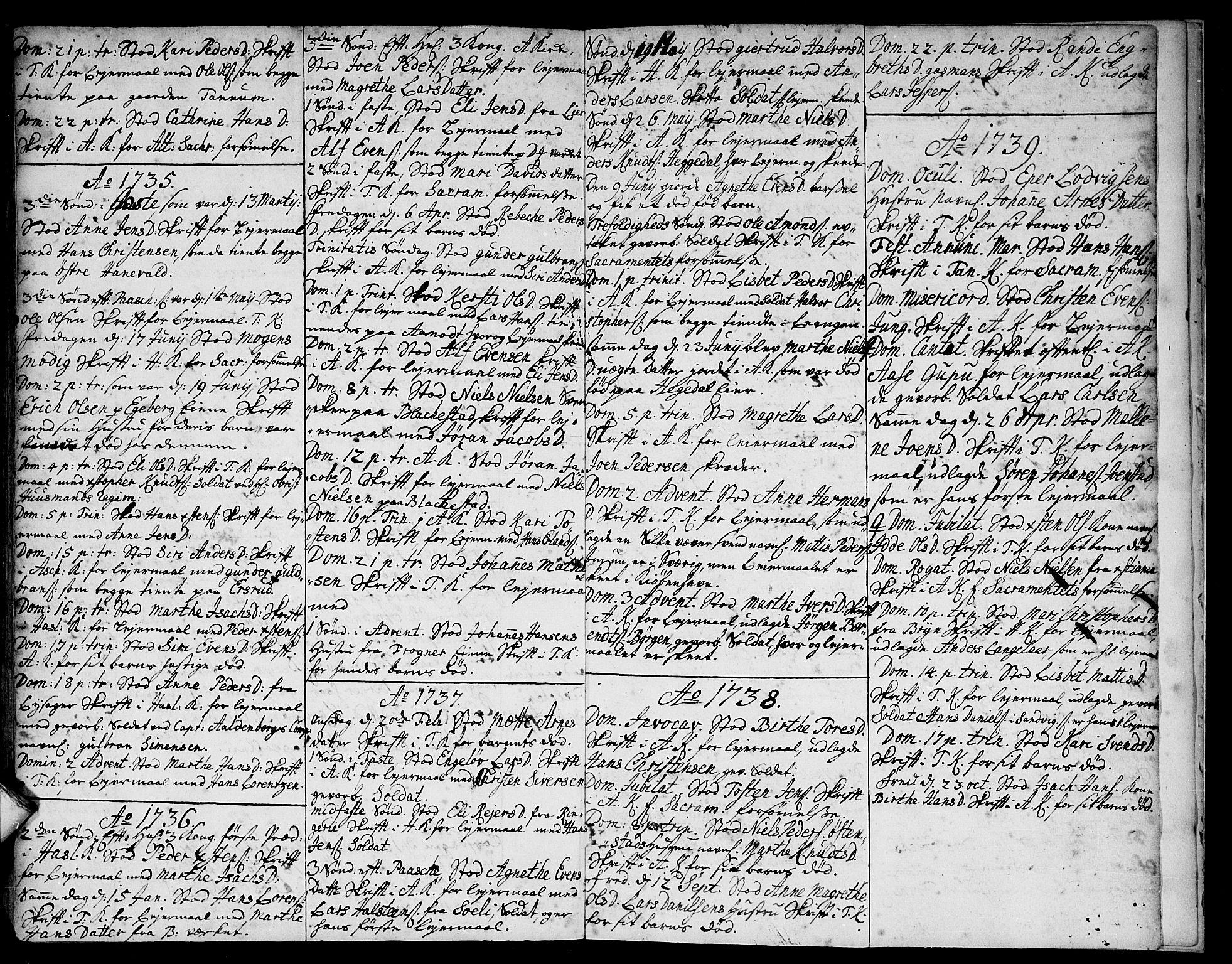 SAO, Asker prestekontor Kirkebøker, F/Fa/L0001: Ministerialbok nr. I 1, 1726-1744, s. 114