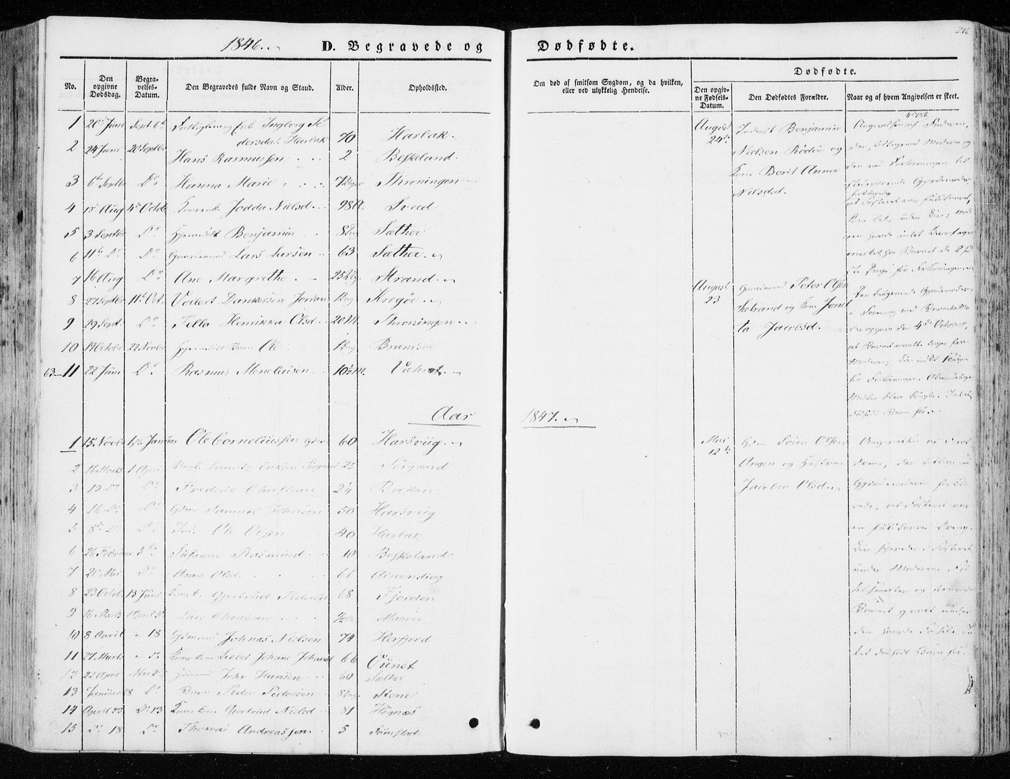 SAT, Ministerialprotokoller, klokkerbøker og fødselsregistre - Sør-Trøndelag, 657/L0704: Ministerialbok nr. 657A05, 1846-1857, s. 226