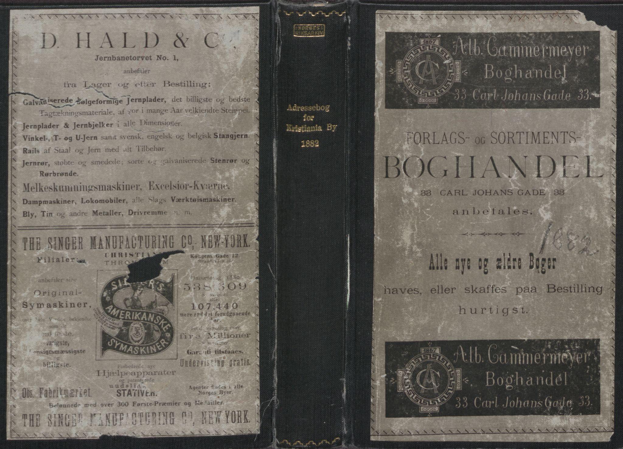 PUBL, Kristiania/Oslo adressebok, 1882