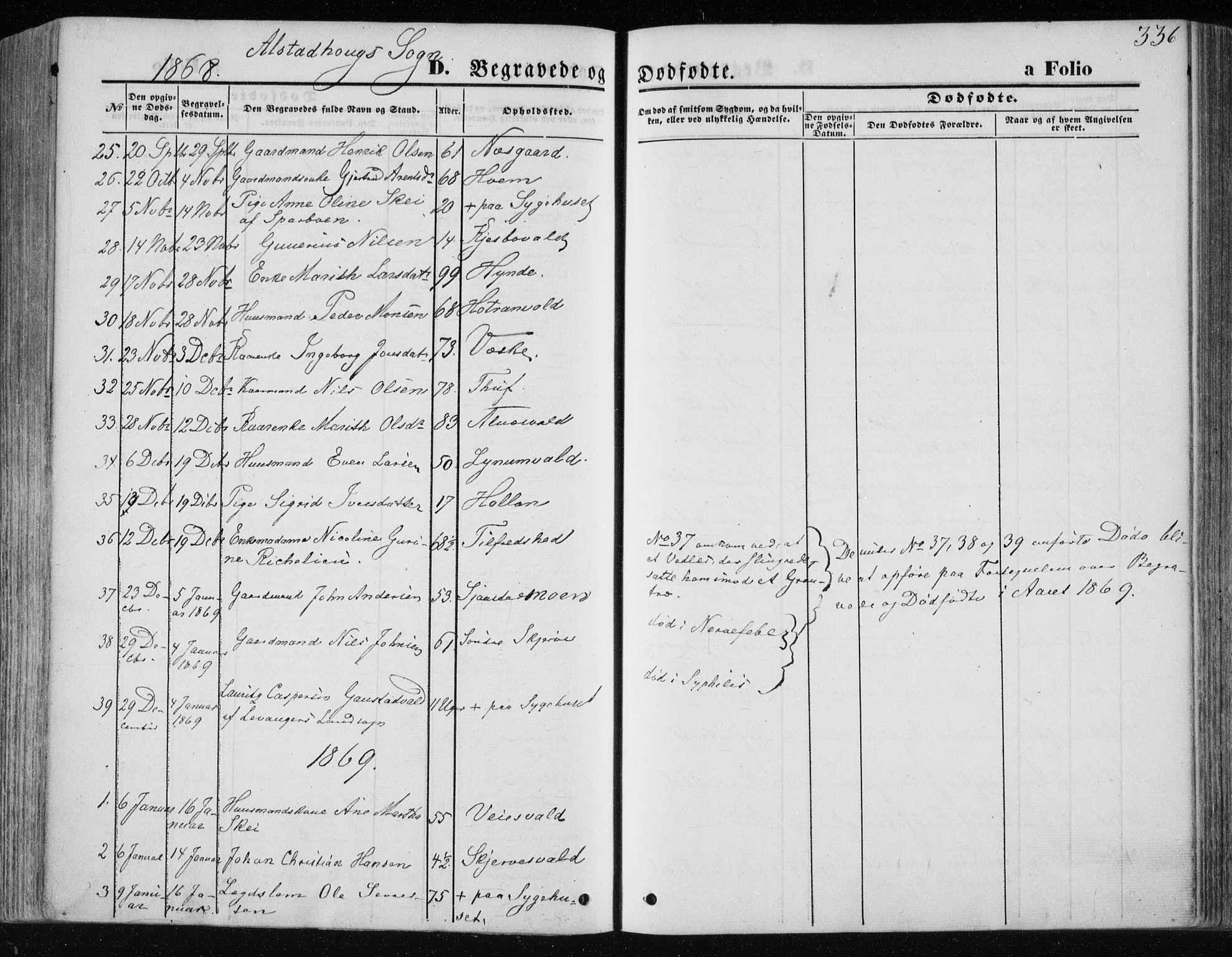 SAT, Ministerialprotokoller, klokkerbøker og fødselsregistre - Nord-Trøndelag, 717/L0157: Ministerialbok nr. 717A08 /1, 1863-1877, s. 336