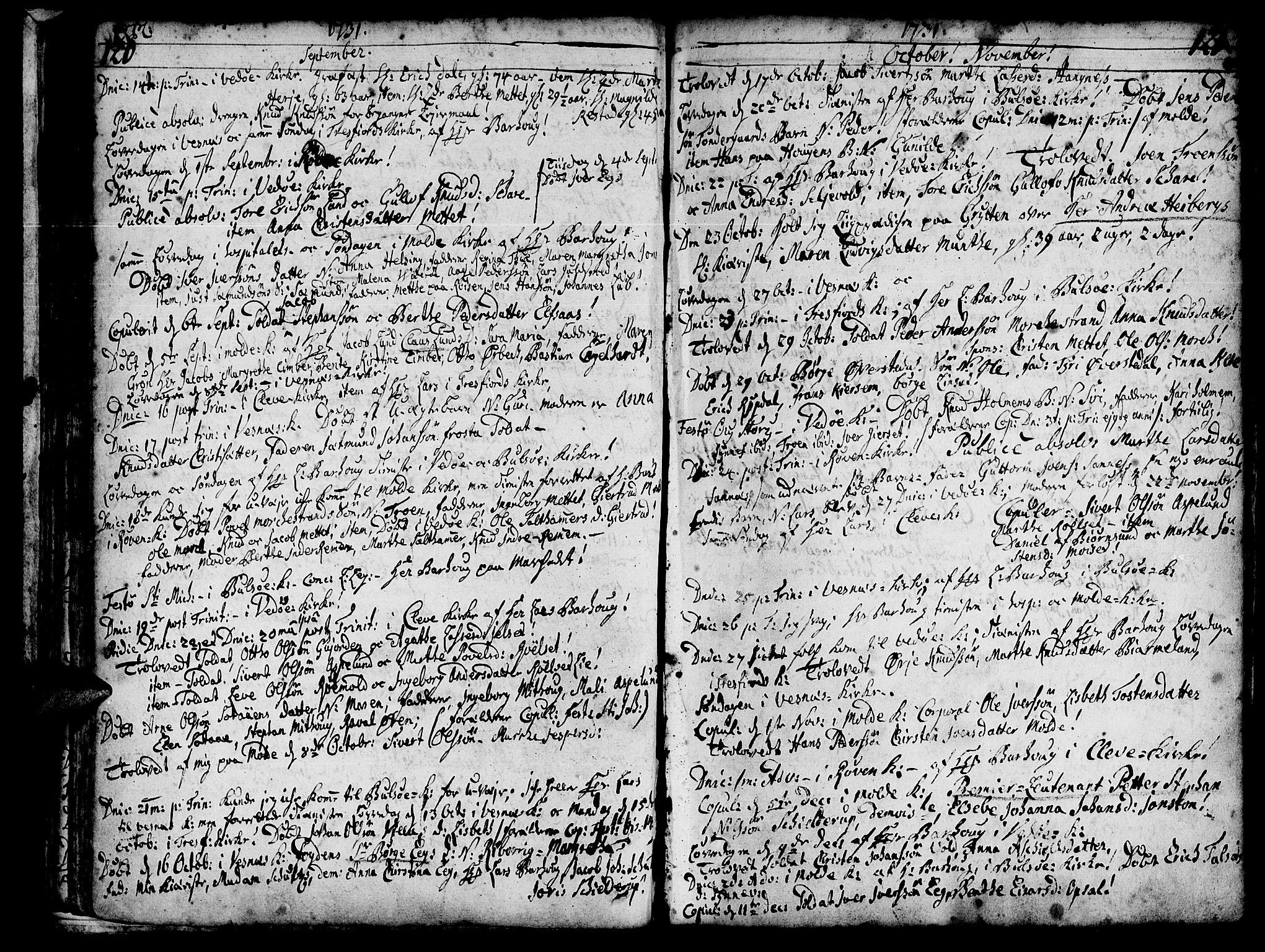 SAT, Ministerialprotokoller, klokkerbøker og fødselsregistre - Møre og Romsdal, 547/L0599: Ministerialbok nr. 547A01, 1721-1764, s. 122-123