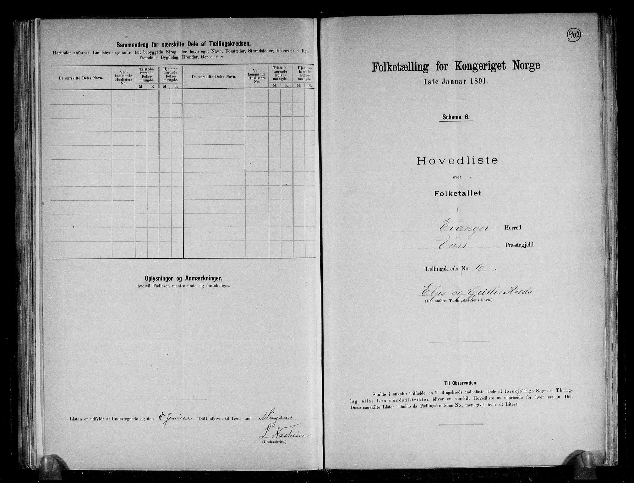 RA, Folketelling 1891 for 1237 Evanger herred, 1891, s. 15