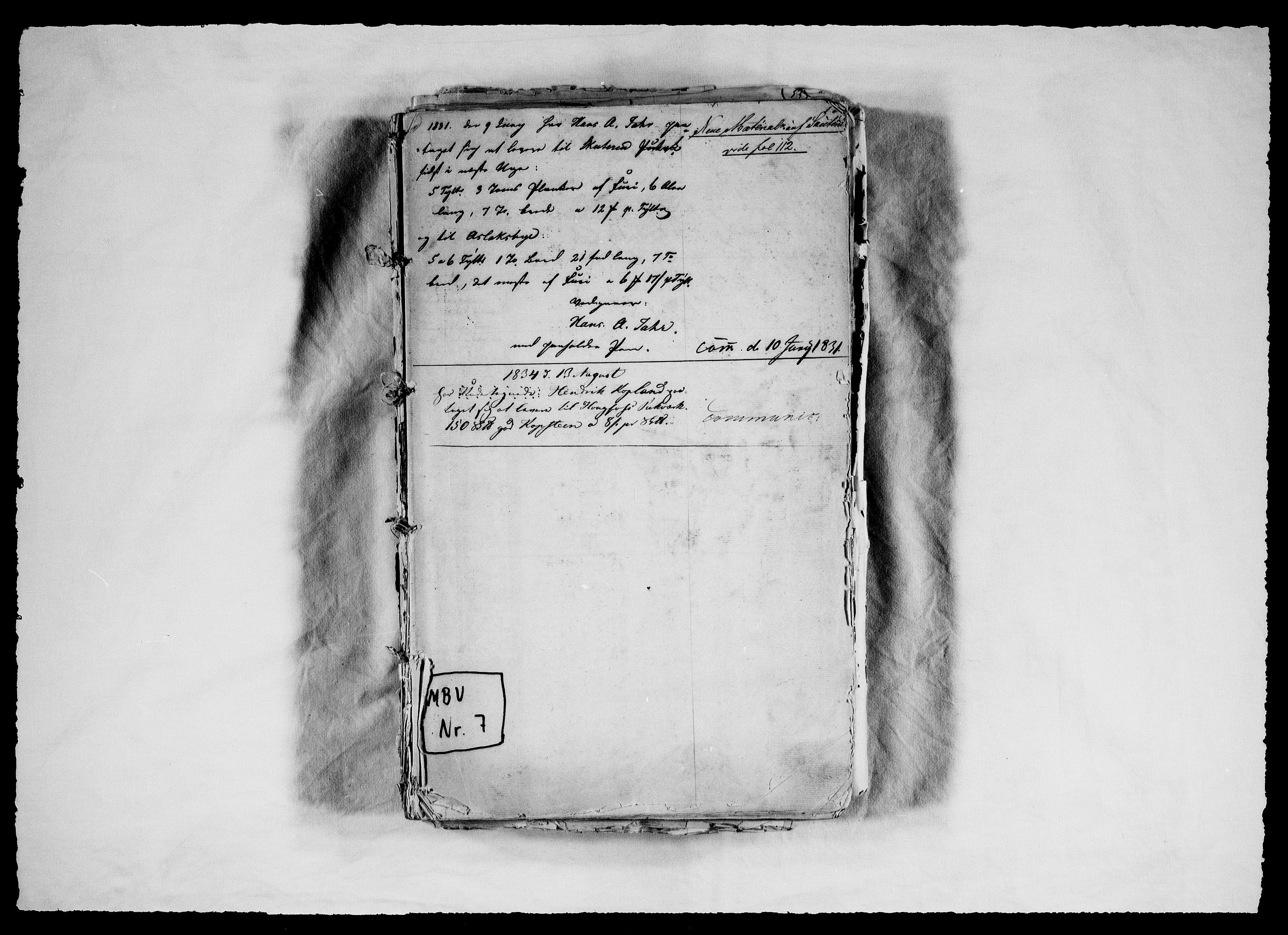 RA, Modums Blaafarveværk, G/Ga/L0061, 1831-1853, s. 2