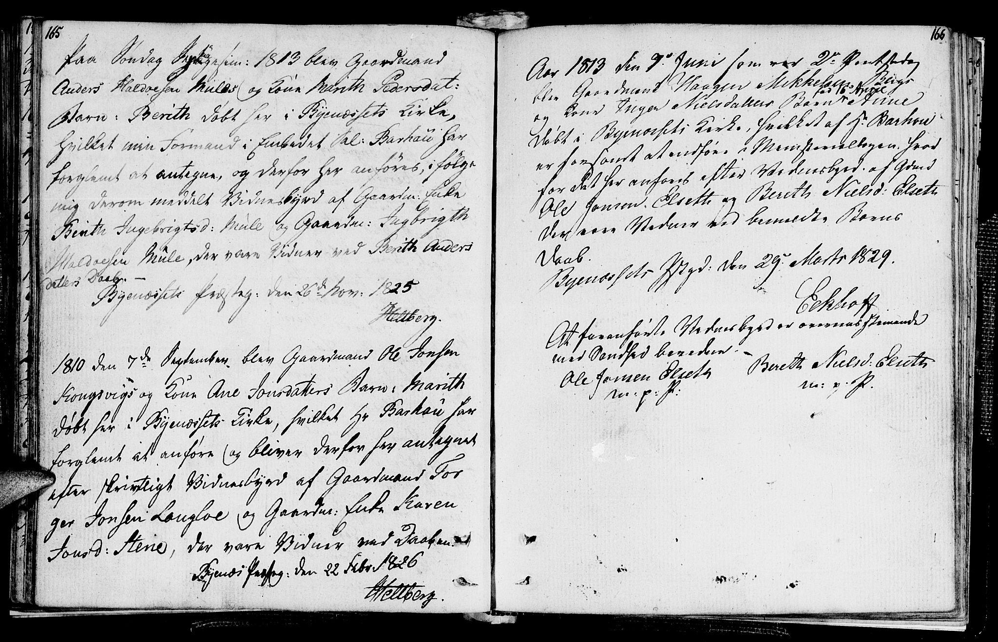 SAT, Ministerialprotokoller, klokkerbøker og fødselsregistre - Sør-Trøndelag, 612/L0371: Ministerialbok nr. 612A05, 1803-1816, s. 165-166