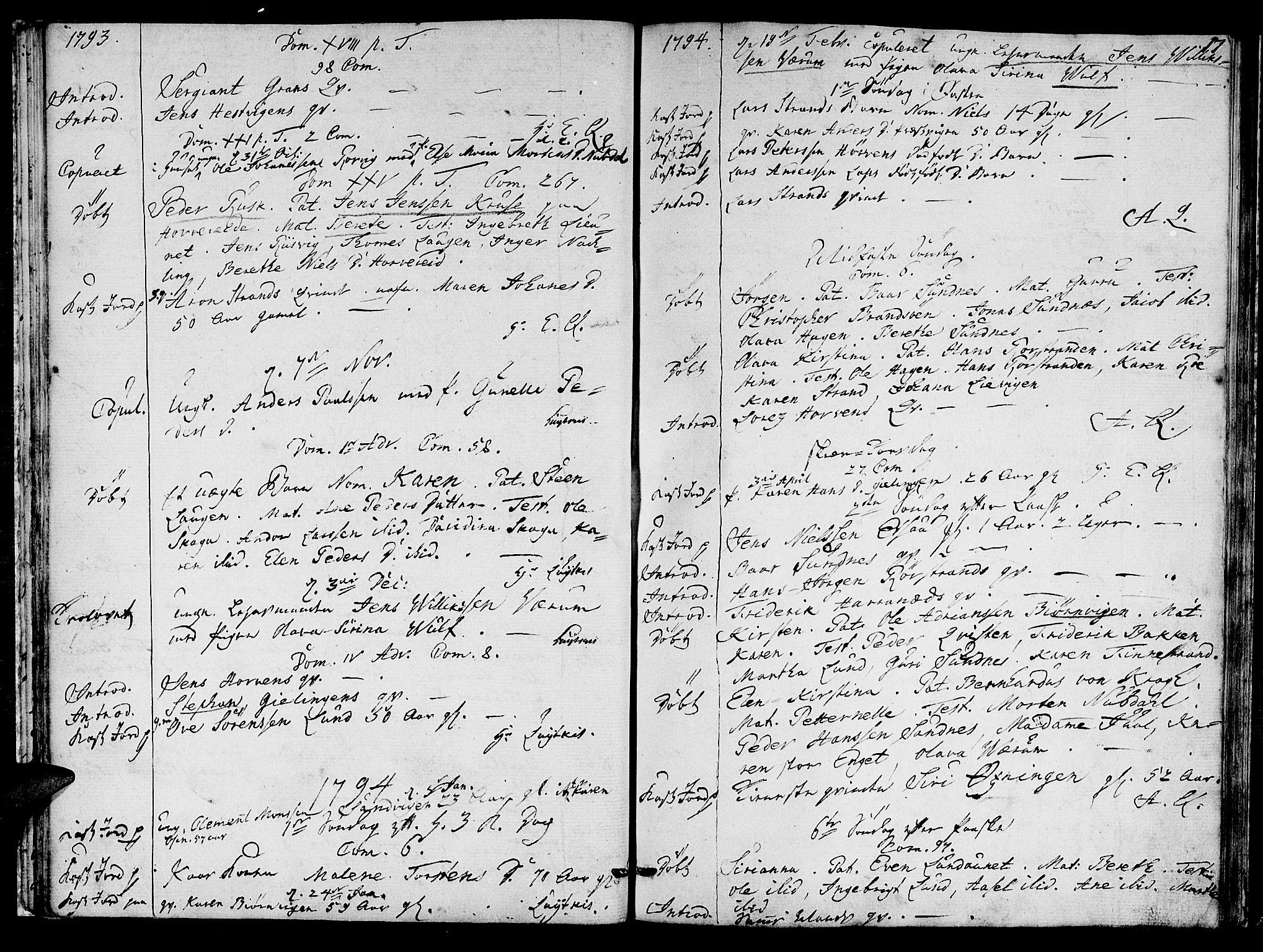 SAT, Ministerialprotokoller, klokkerbøker og fødselsregistre - Nord-Trøndelag, 780/L0633: Ministerialbok nr. 780A02 /1, 1787-1814, s. 17