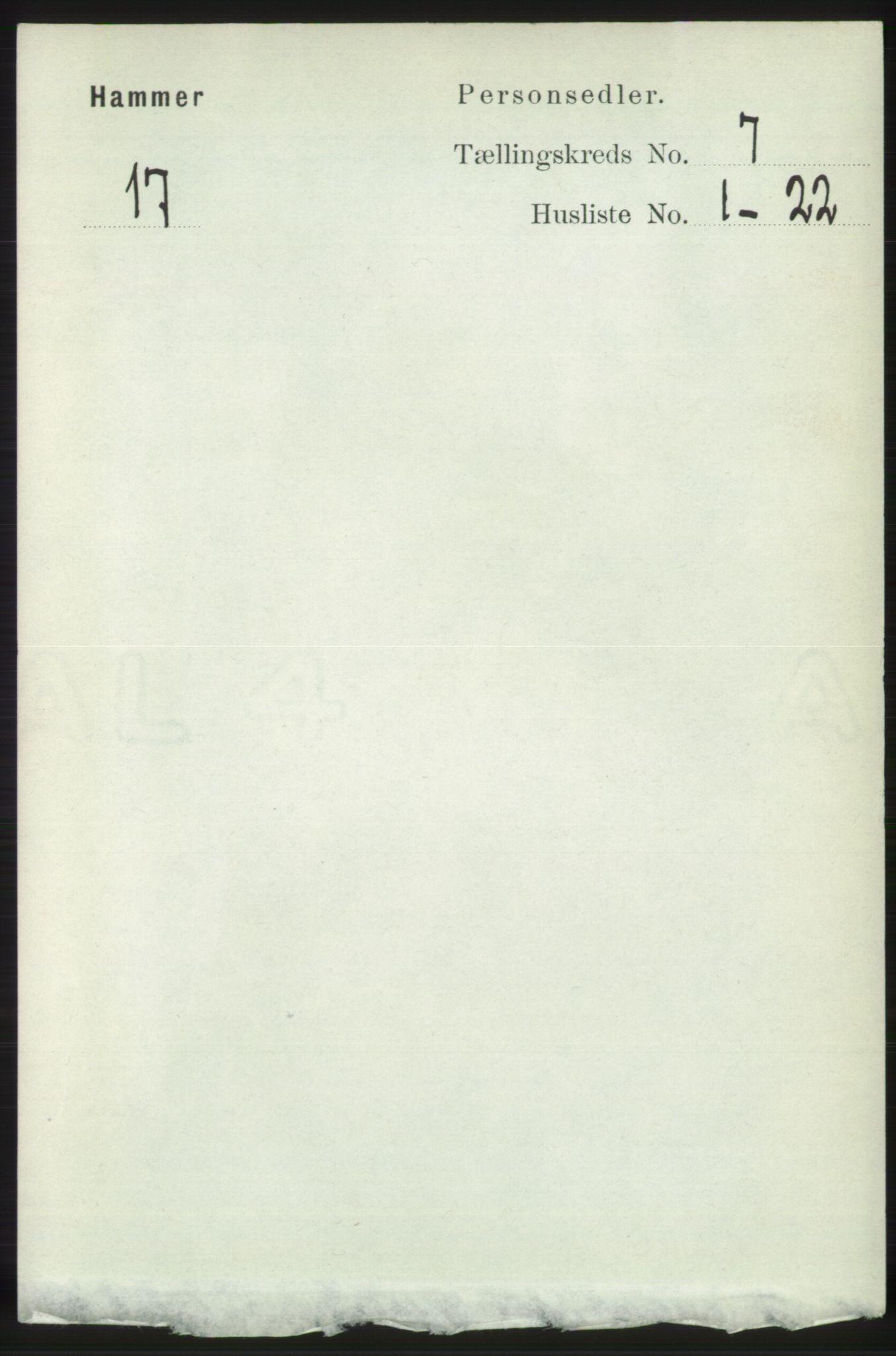 RA, Folketelling 1891 for 1254 Hamre herred, 1891, s. 1696