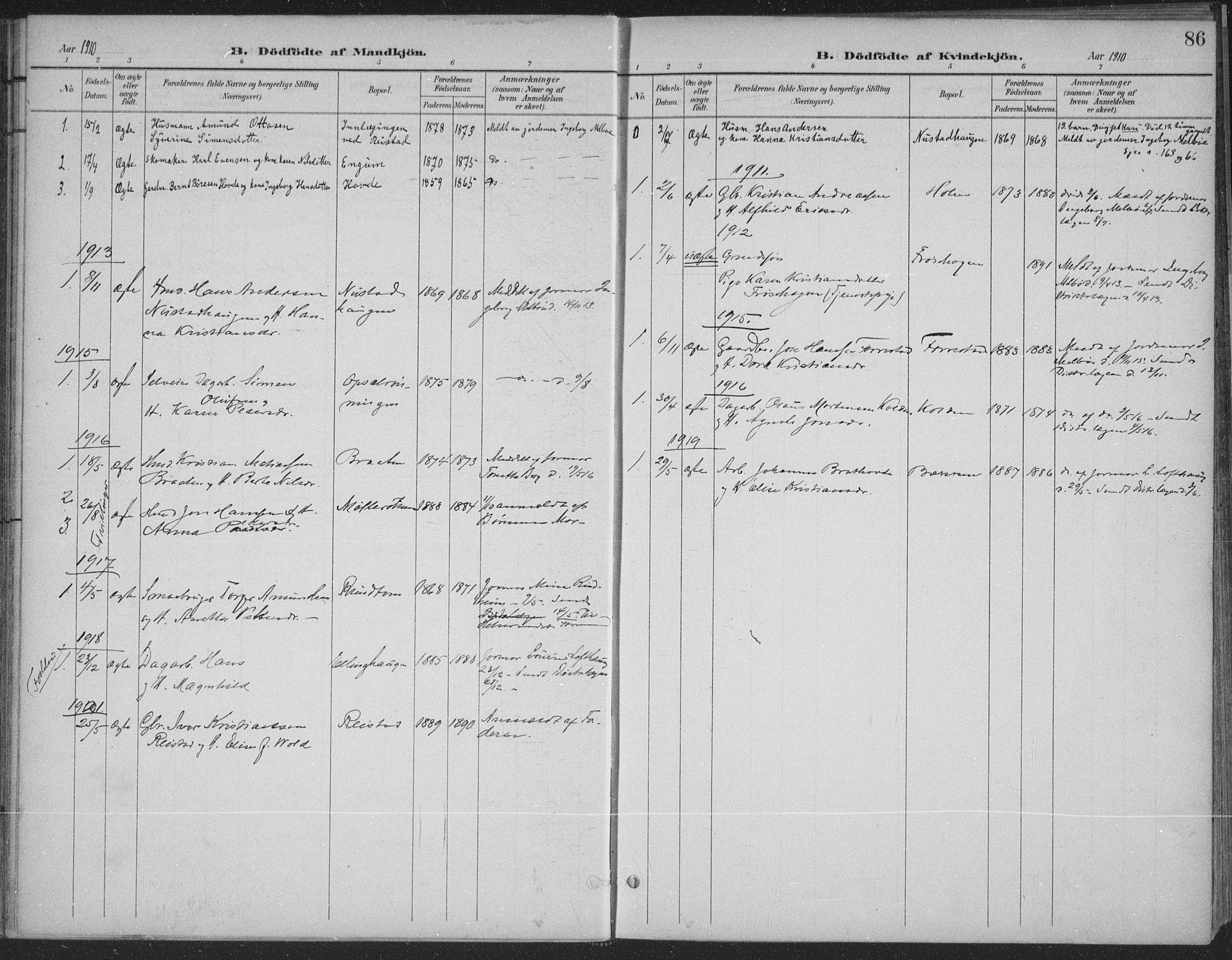 SAH, Østre Gausdal prestekontor, Ministerialbok nr. 4, 1898-1914, s. 86