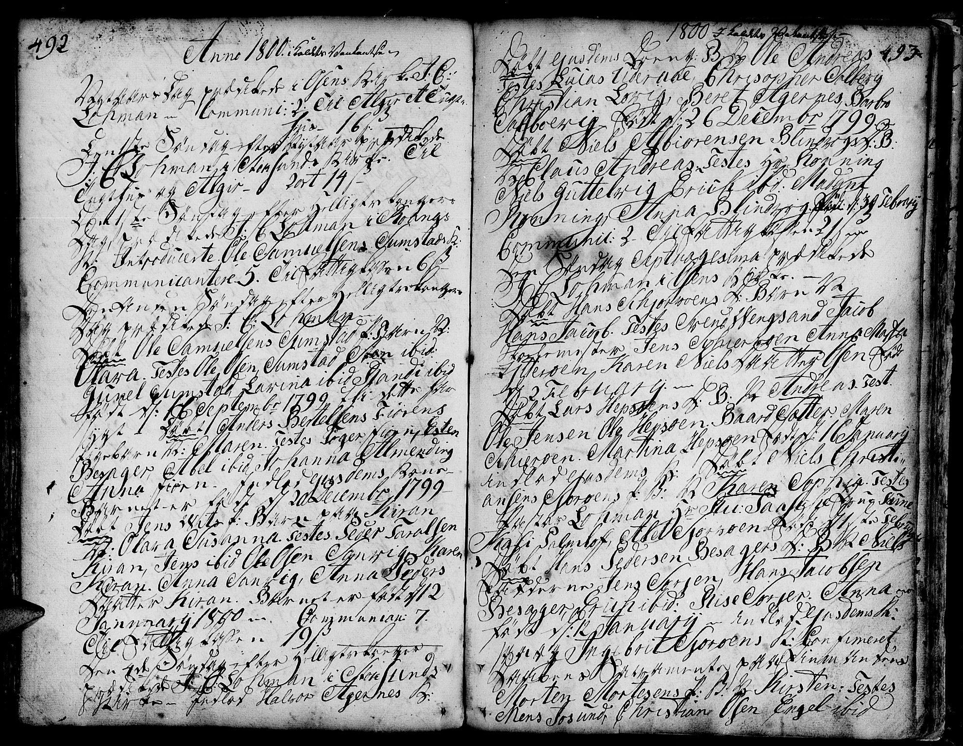 SAT, Ministerialprotokoller, klokkerbøker og fødselsregistre - Sør-Trøndelag, 657/L0700: Ministerialbok nr. 657A01, 1732-1801, s. 492-493
