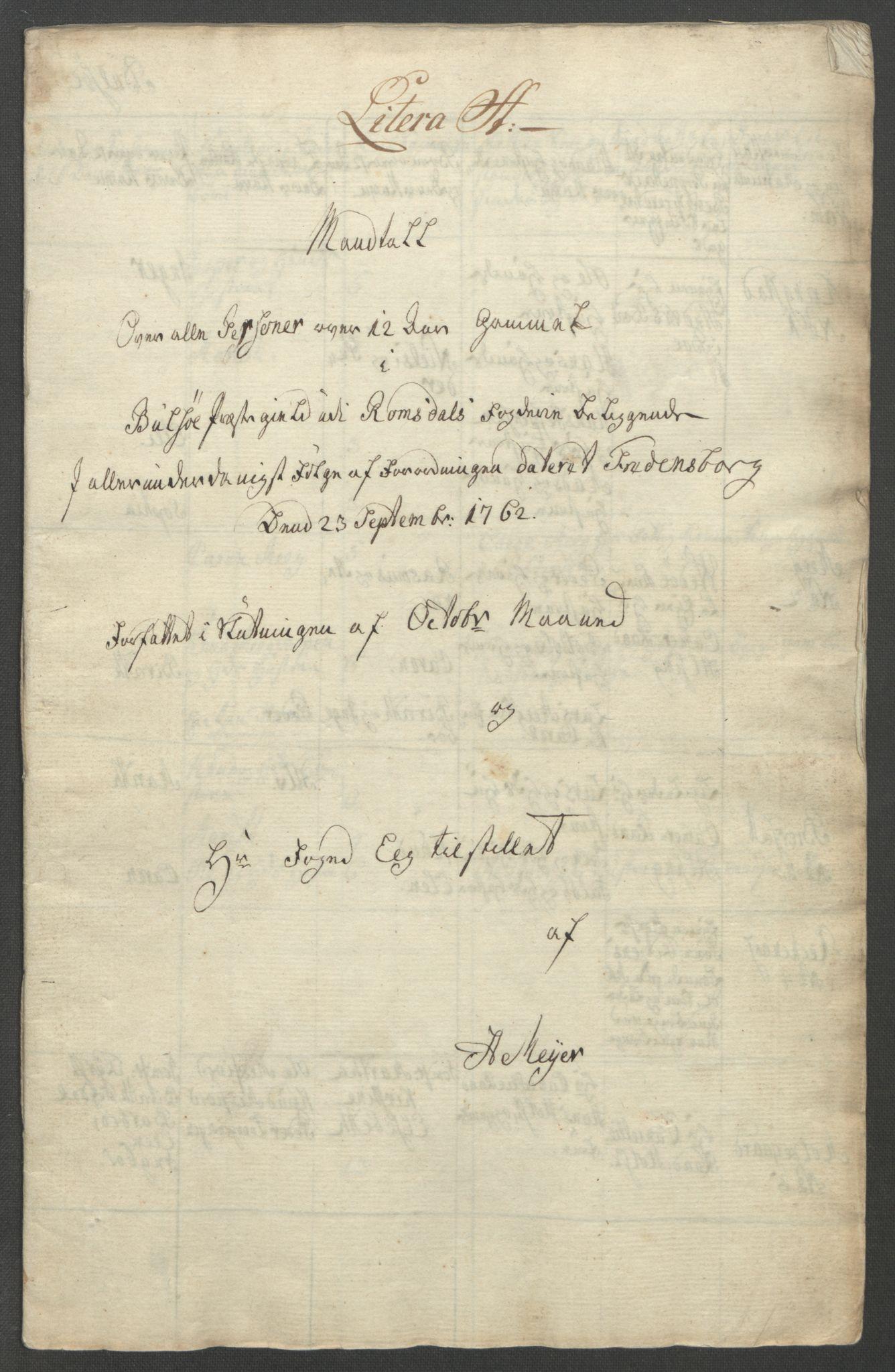 RA, Rentekammeret inntil 1814, Reviderte regnskaper, Fogderegnskap, R55/L3730: Ekstraskatten Romsdal, 1762-1763, s. 153