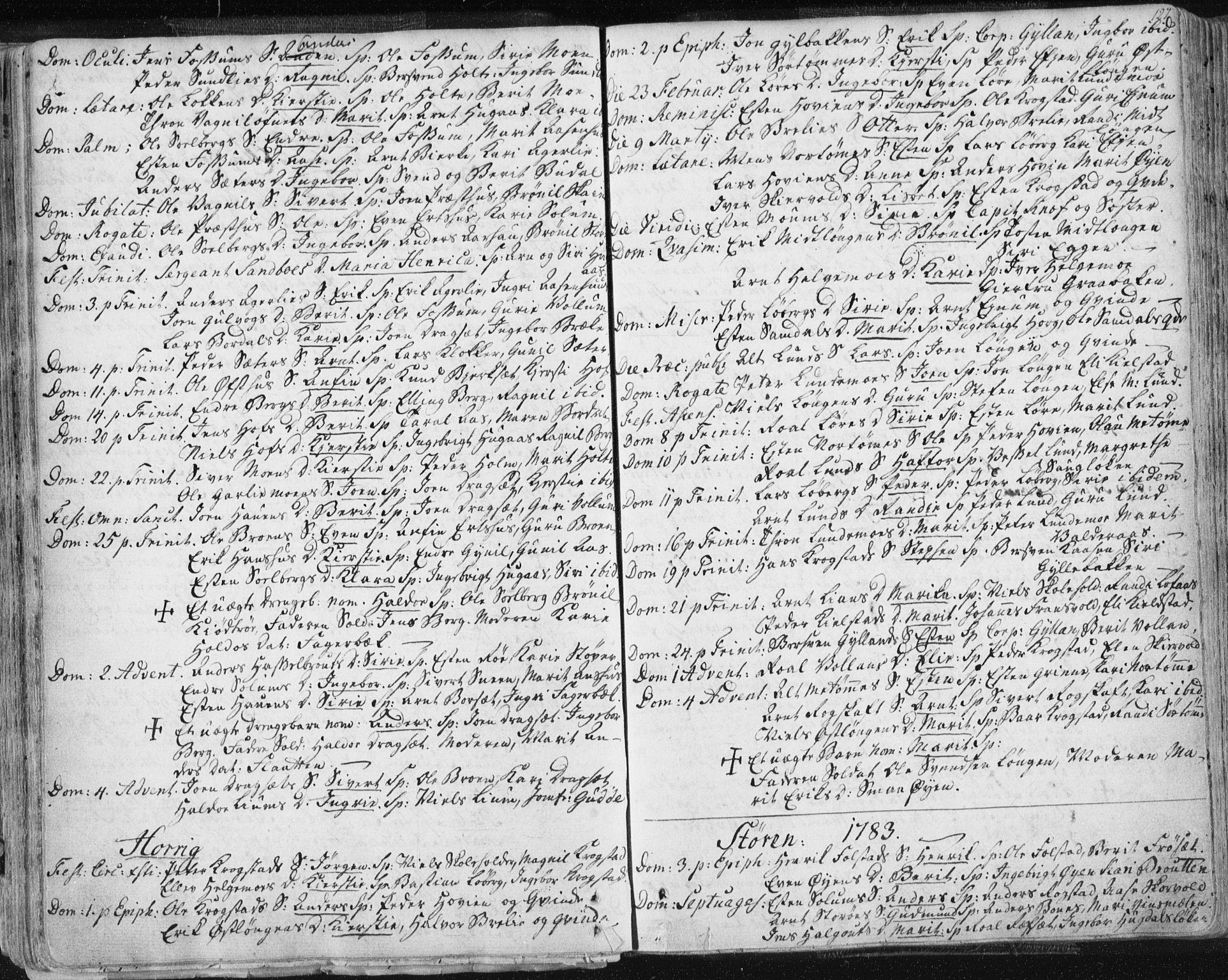 SAT, Ministerialprotokoller, klokkerbøker og fødselsregistre - Sør-Trøndelag, 687/L0991: Ministerialbok nr. 687A02, 1747-1790, s. 127