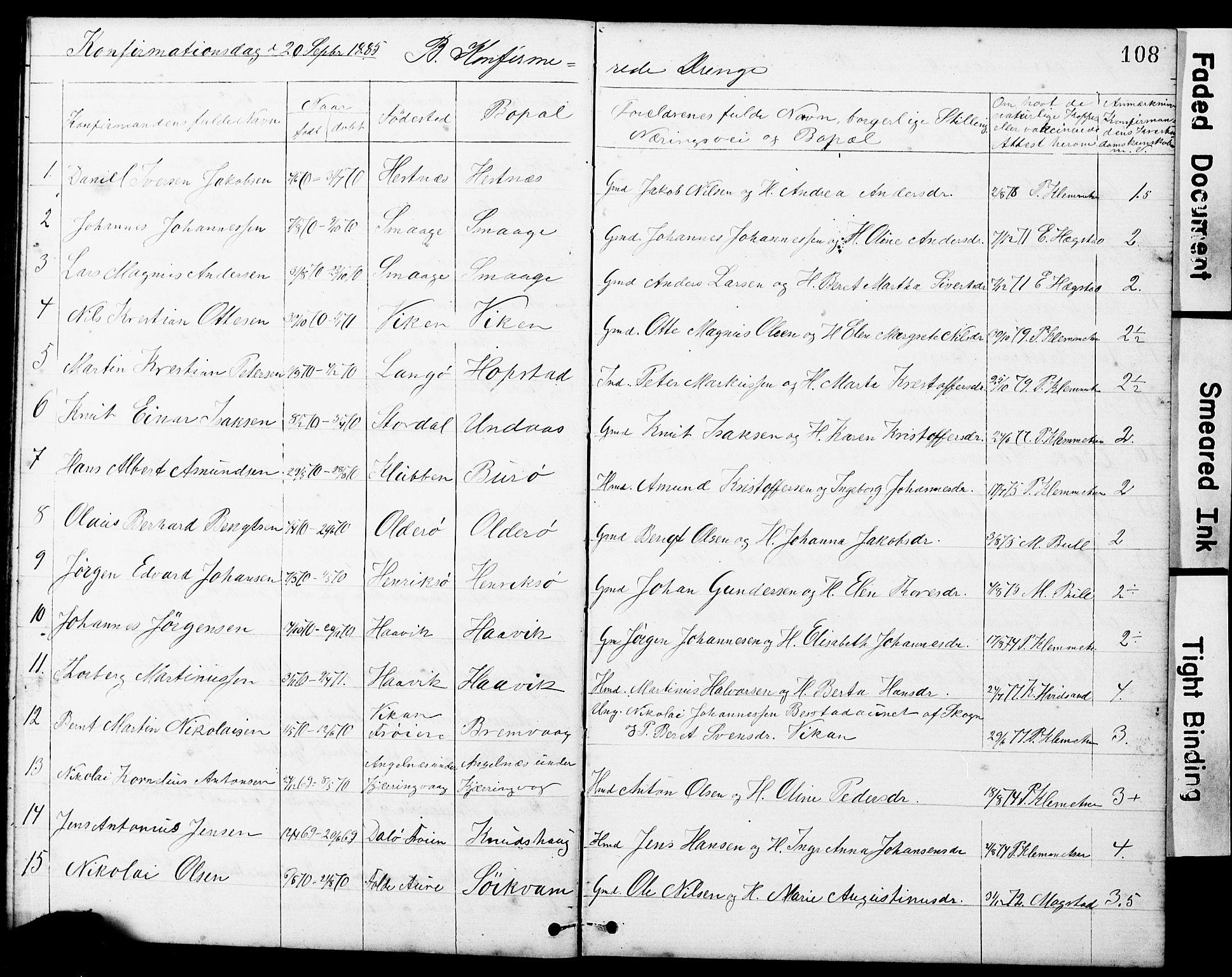 SAT, Ministerialprotokoller, klokkerbøker og fødselsregistre - Sør-Trøndelag, 634/L0541: Klokkerbok nr. 634C03, 1874-1891, s. 108