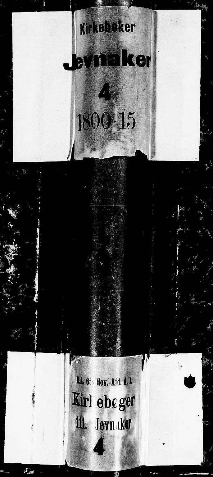 SAH, Jevnaker prestekontor, Ministerialbok nr. 4, 1800-1861