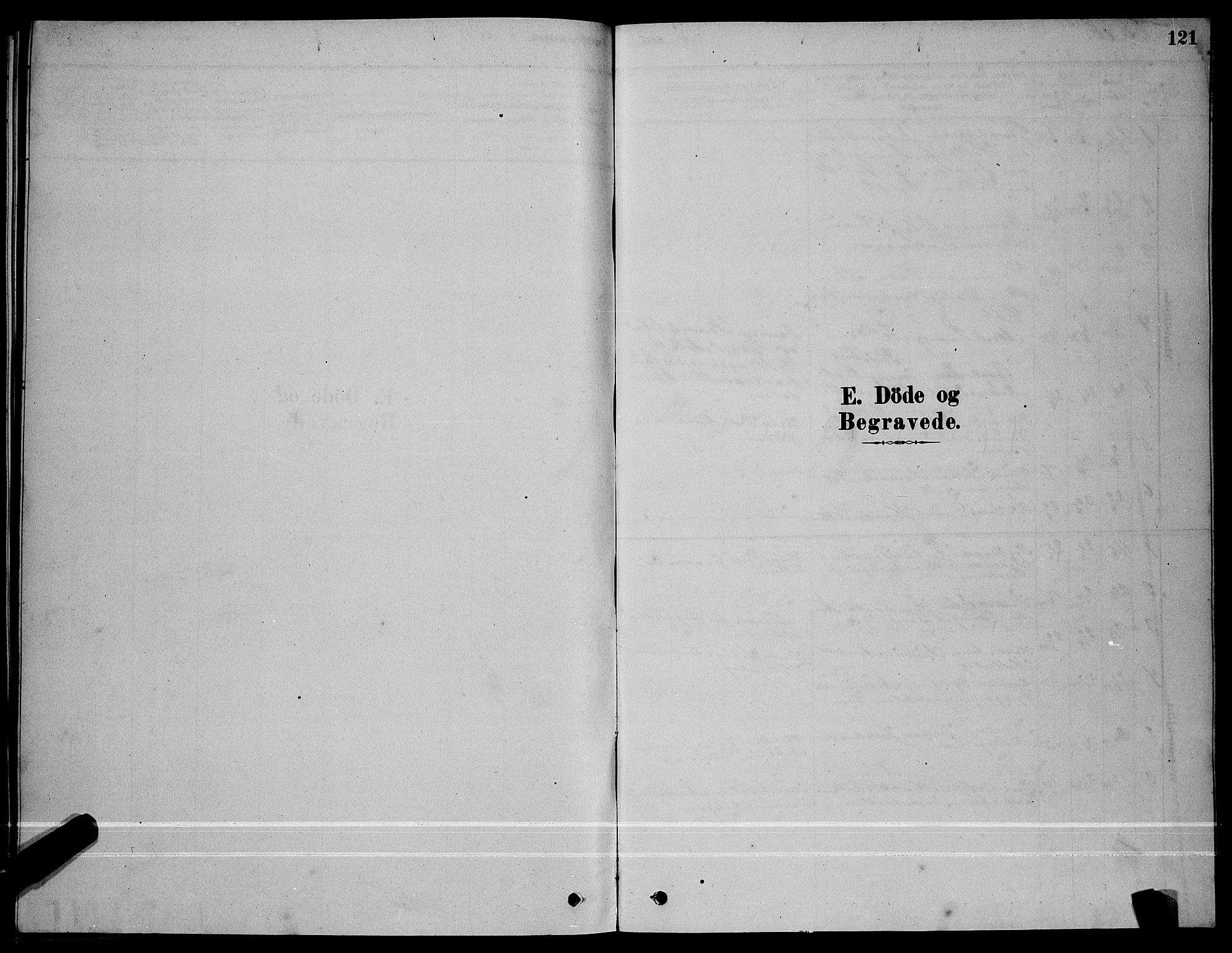 SAT, Ministerialprotokoller, klokkerbøker og fødselsregistre - Sør-Trøndelag, 641/L0597: Klokkerbok nr. 641C01, 1878-1893, s. 121