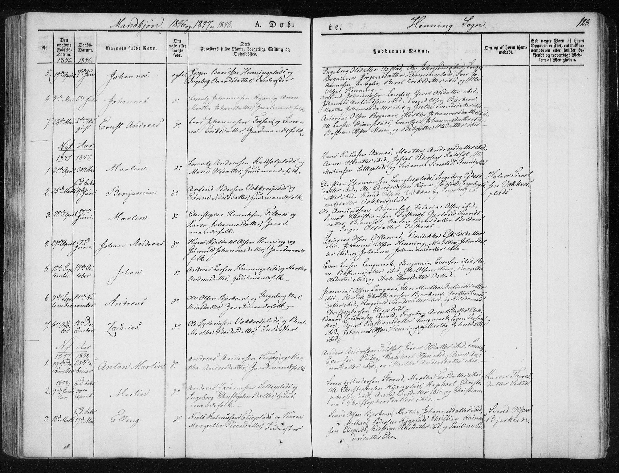 SAT, Ministerialprotokoller, klokkerbøker og fødselsregistre - Nord-Trøndelag, 735/L0339: Ministerialbok nr. 735A06 /3, 1836-1848, s. 123