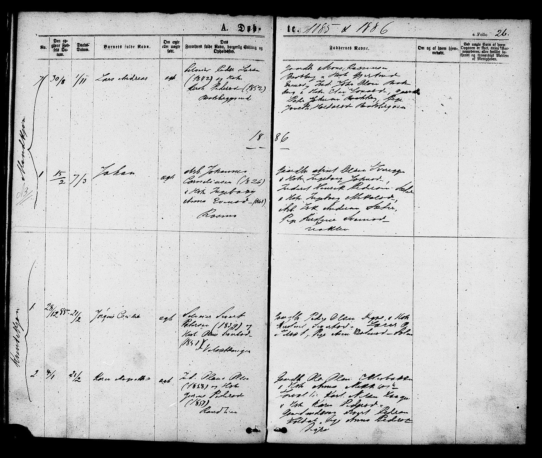 SAT, Ministerialprotokoller, klokkerbøker og fødselsregistre - Sør-Trøndelag, 608/L0334: Ministerialbok nr. 608A03, 1877-1886, s. 26