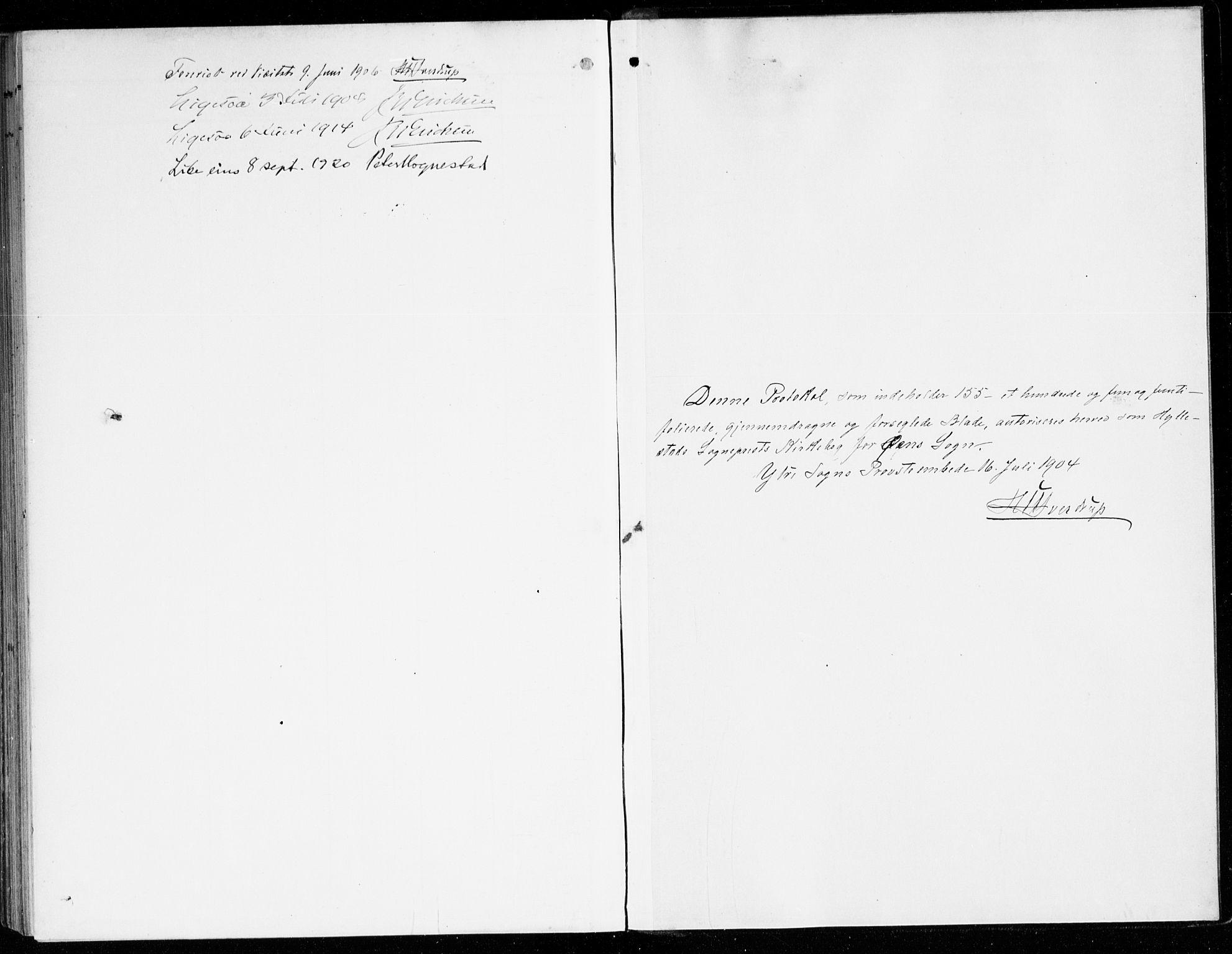 SAB, Hyllestad Sokneprestembete, Ministerialbok nr. D 2, 1905-1919