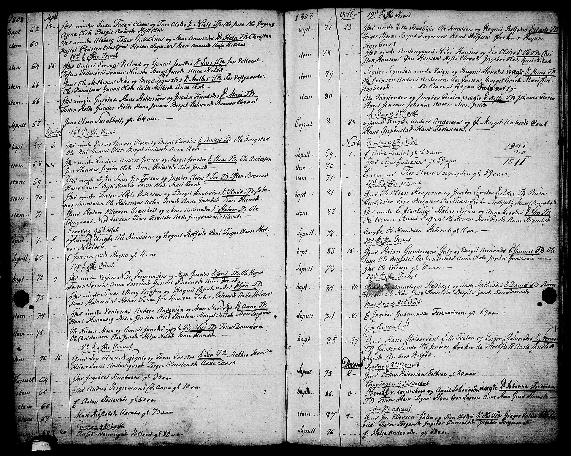 SAKO, Sauherad kirkebøker, F/Fa/L0004: Ministerialbok nr. I 4, 1767-1814