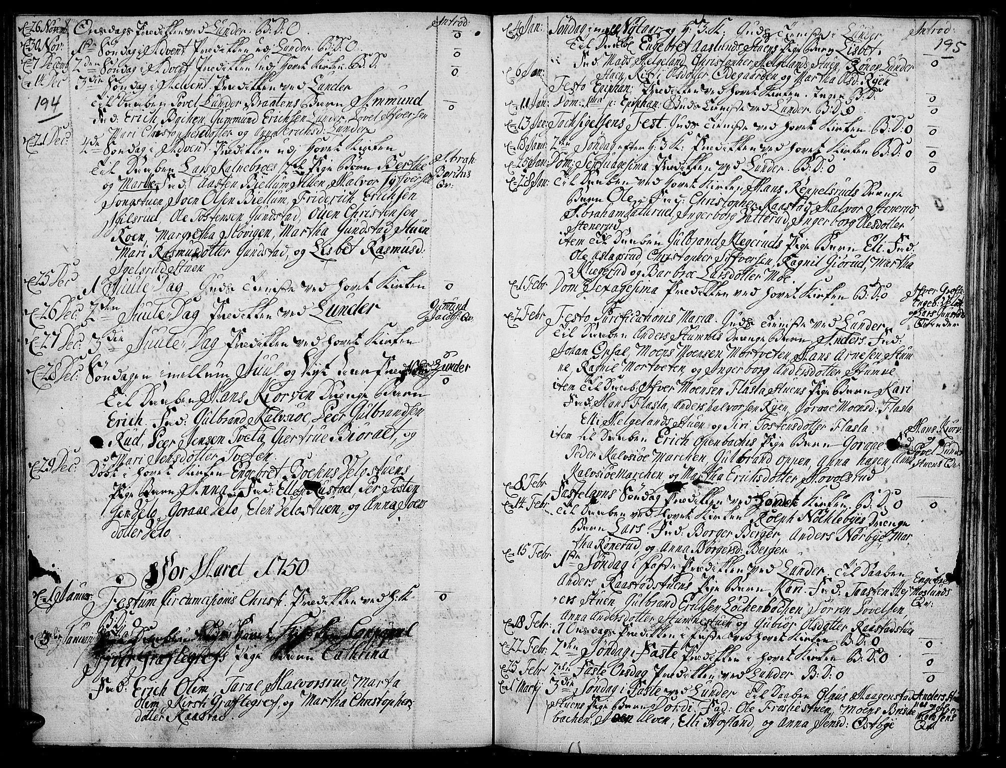SAH, Jevnaker prestekontor, Ministerialbok nr. 2, 1725-1751, s. 194-195