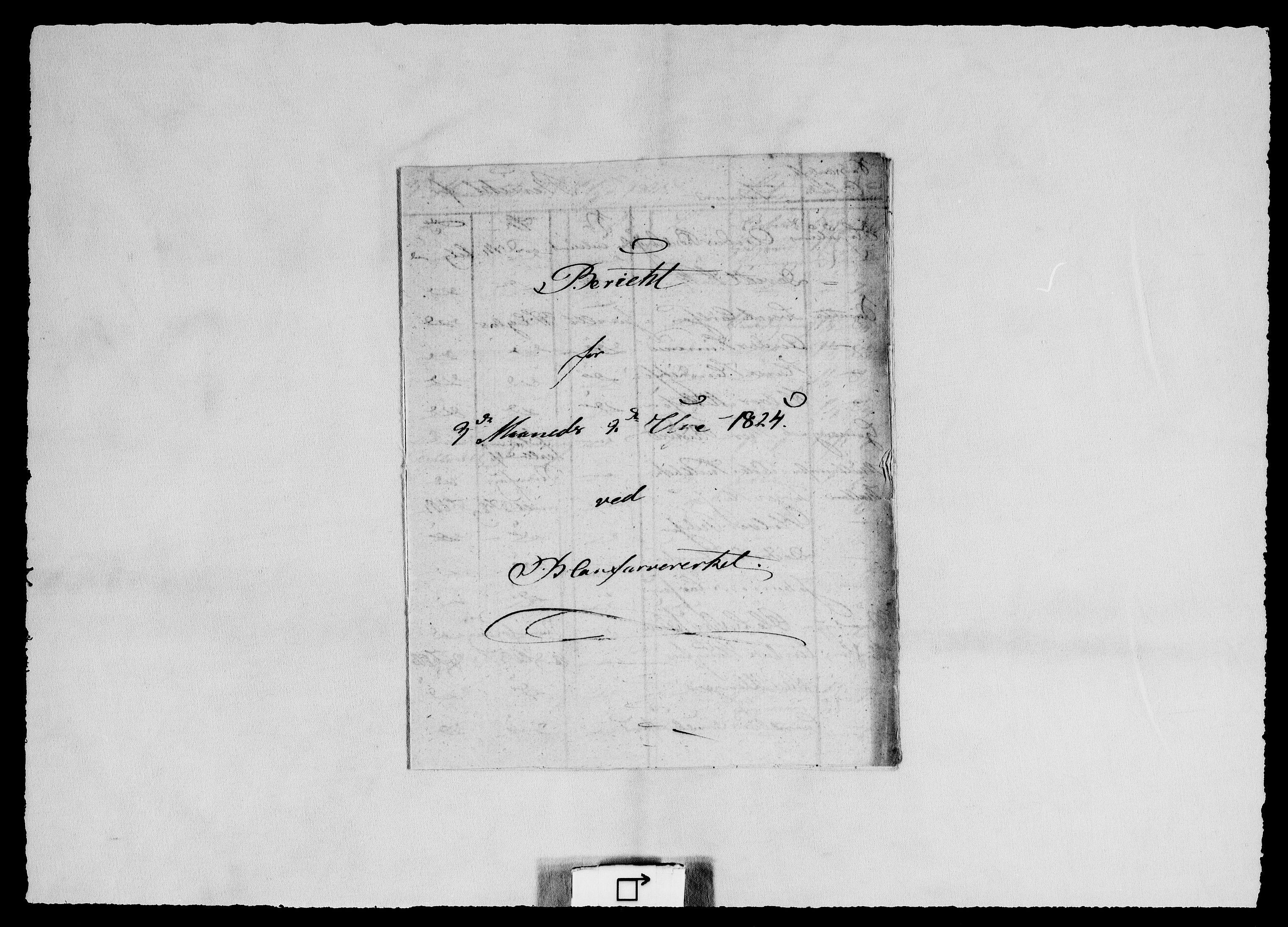 RA, Modums Blaafarveværk, G/Ge/L0318, 1824-1826, s. 2
