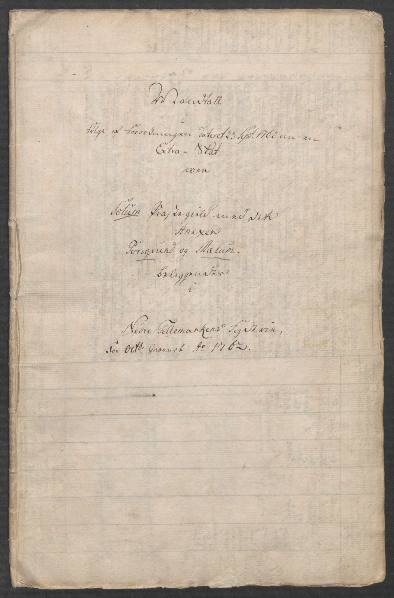 RA, Rentekammeret inntil 1814, Reviderte regnskaper, Fogderegnskap, R37/L2239: Ekstraskatten Nedre Telemark og Bamble, 1762-1763, s. 20