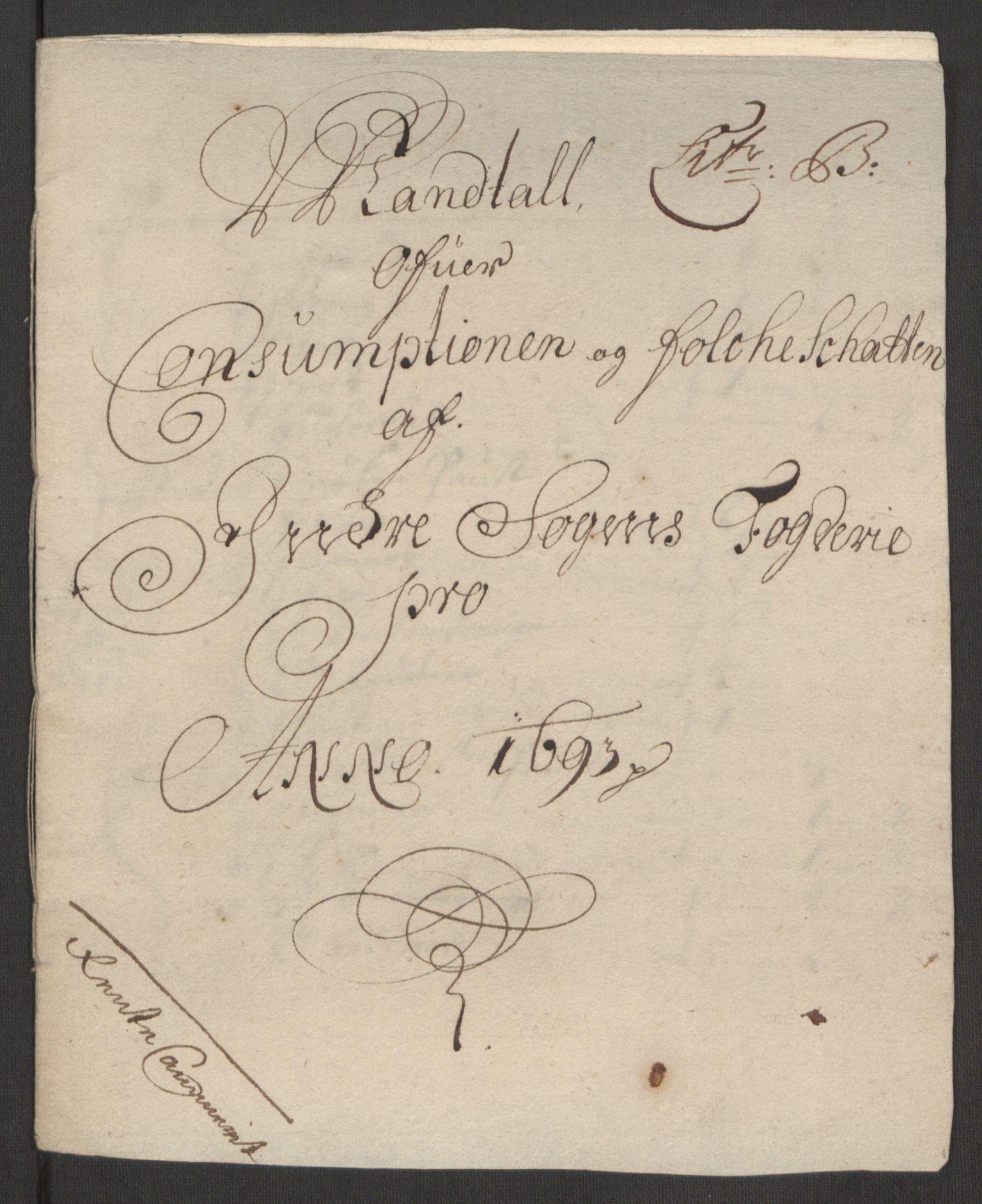 RA, Rentekammeret inntil 1814, Reviderte regnskaper, Fogderegnskap, R52/L3307: Fogderegnskap Sogn, 1693-1694, s. 37