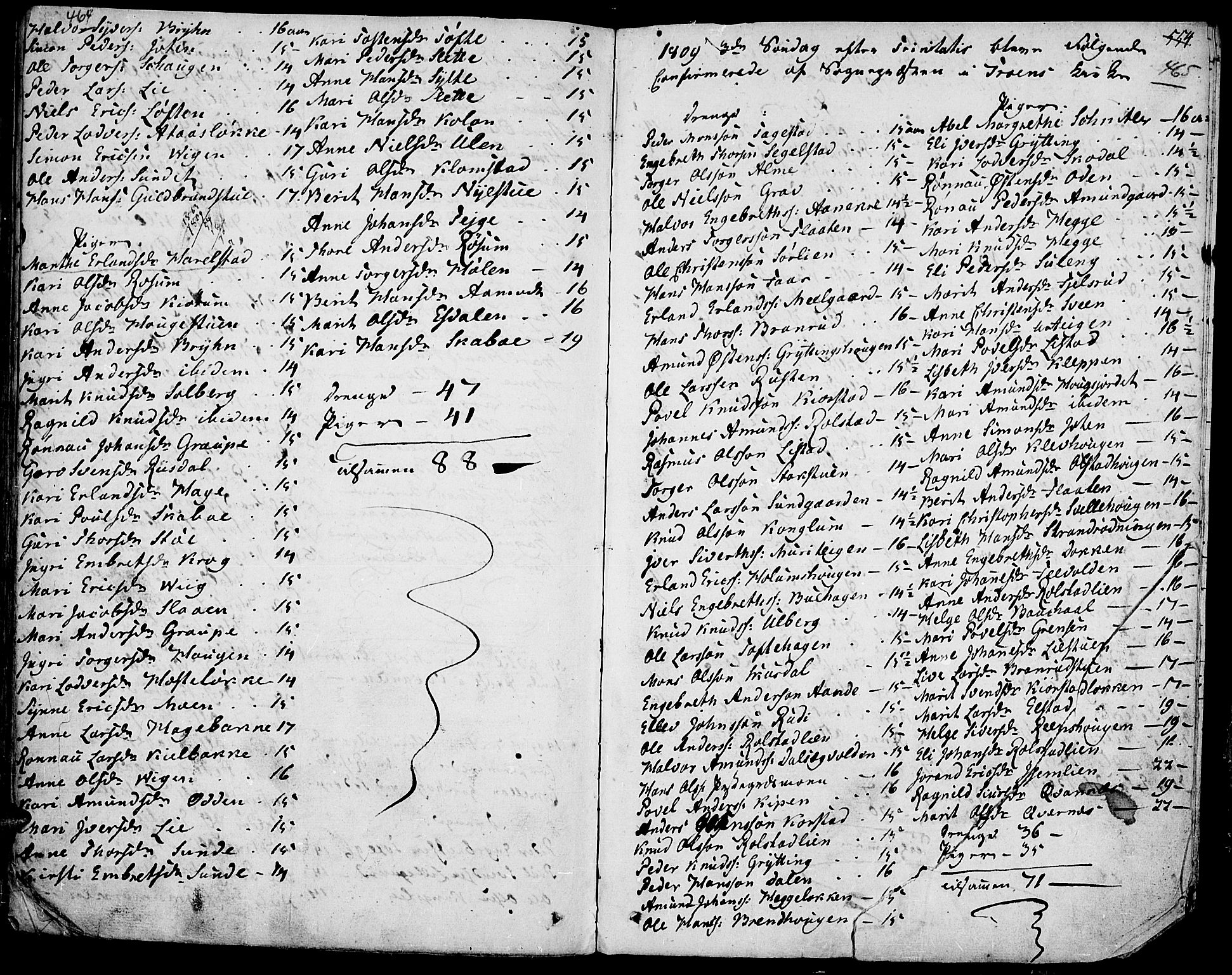 SAH, Fron prestekontor, H/Ha/Haa/L0001: Ministerialbok nr. 1, 1799-1816, s. 464-465