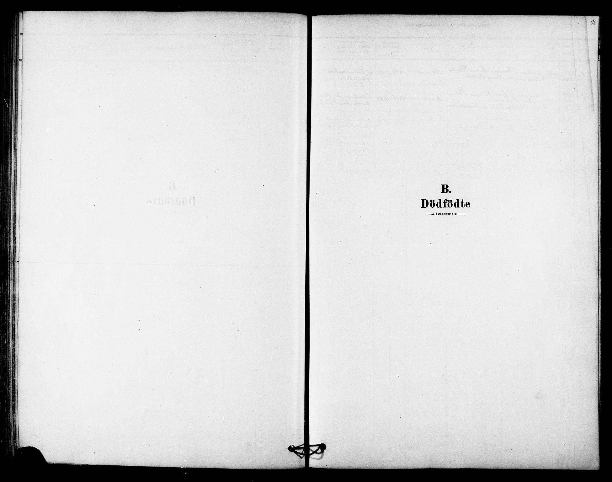 SAT, Ministerialprotokoller, klokkerbøker og fødselsregistre - Nordland, 843/L0626: Ministerialbok nr. 843A01, 1878-1907, s. 96